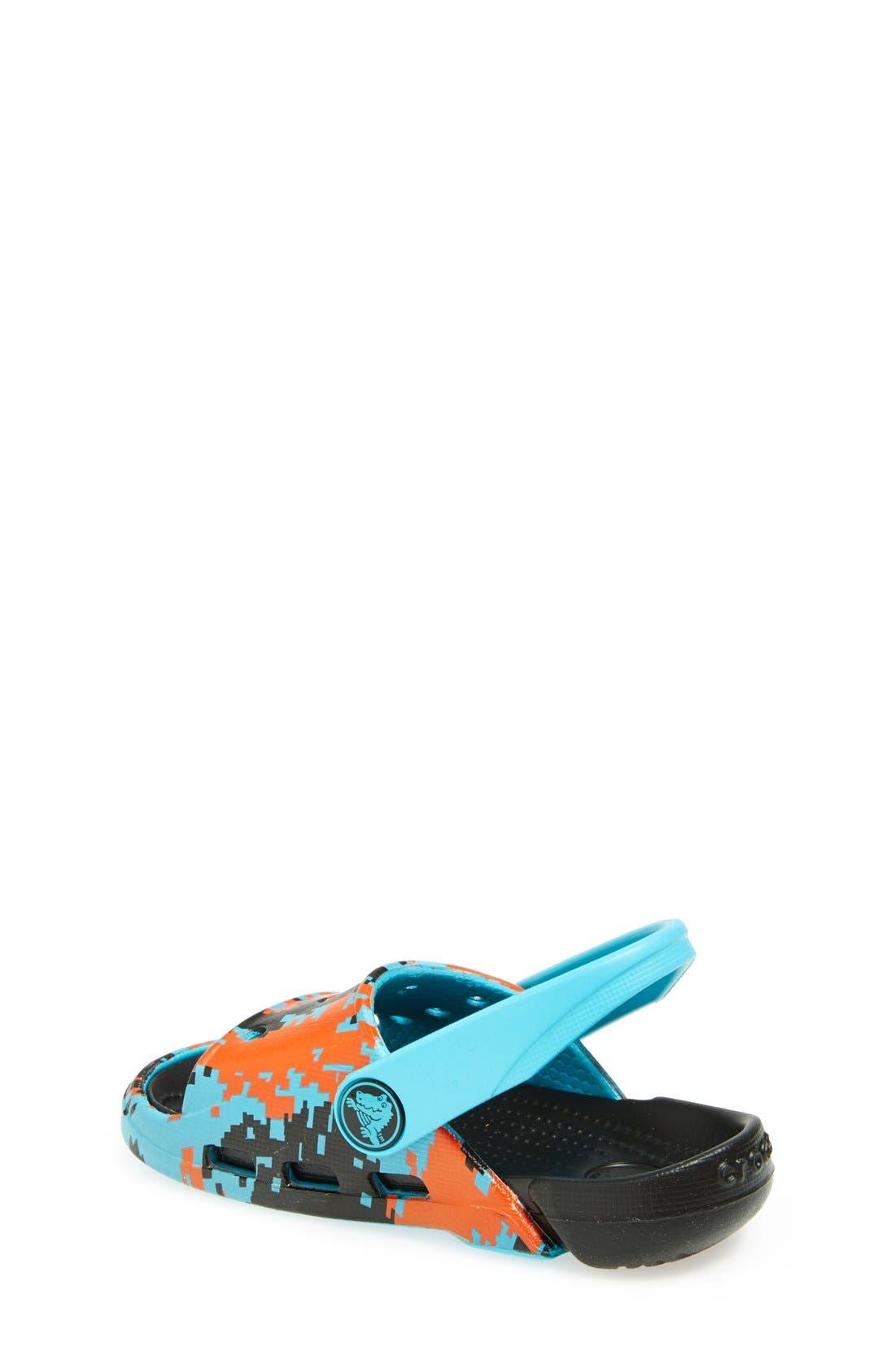 Alternate Image 2  - CROCS™ 'Electro Slide - Digi Camo' Sandal (Walker, Toddler & Little Kid)