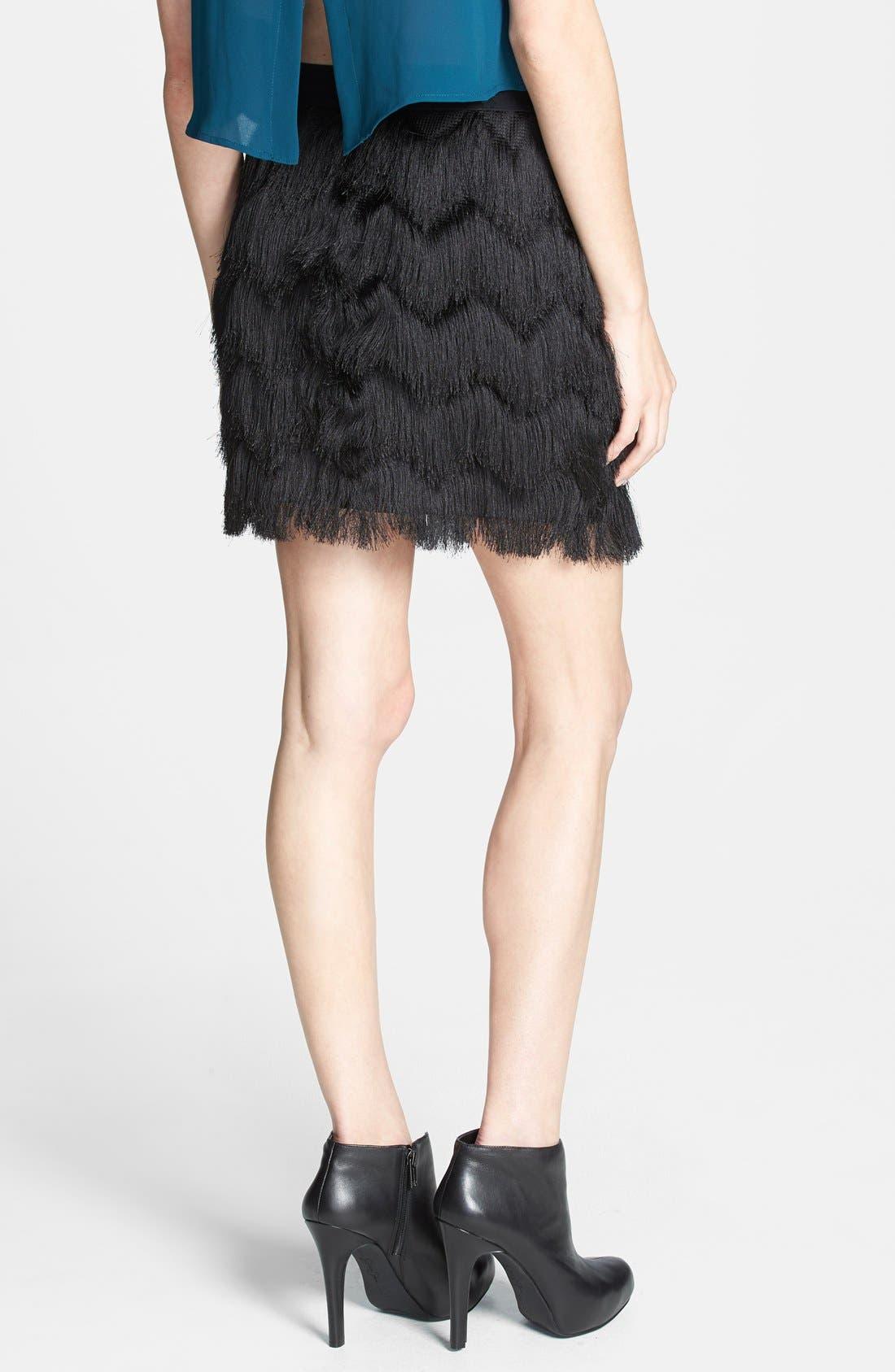 Alternate Image 2  - Leith Fringe Miniskirt