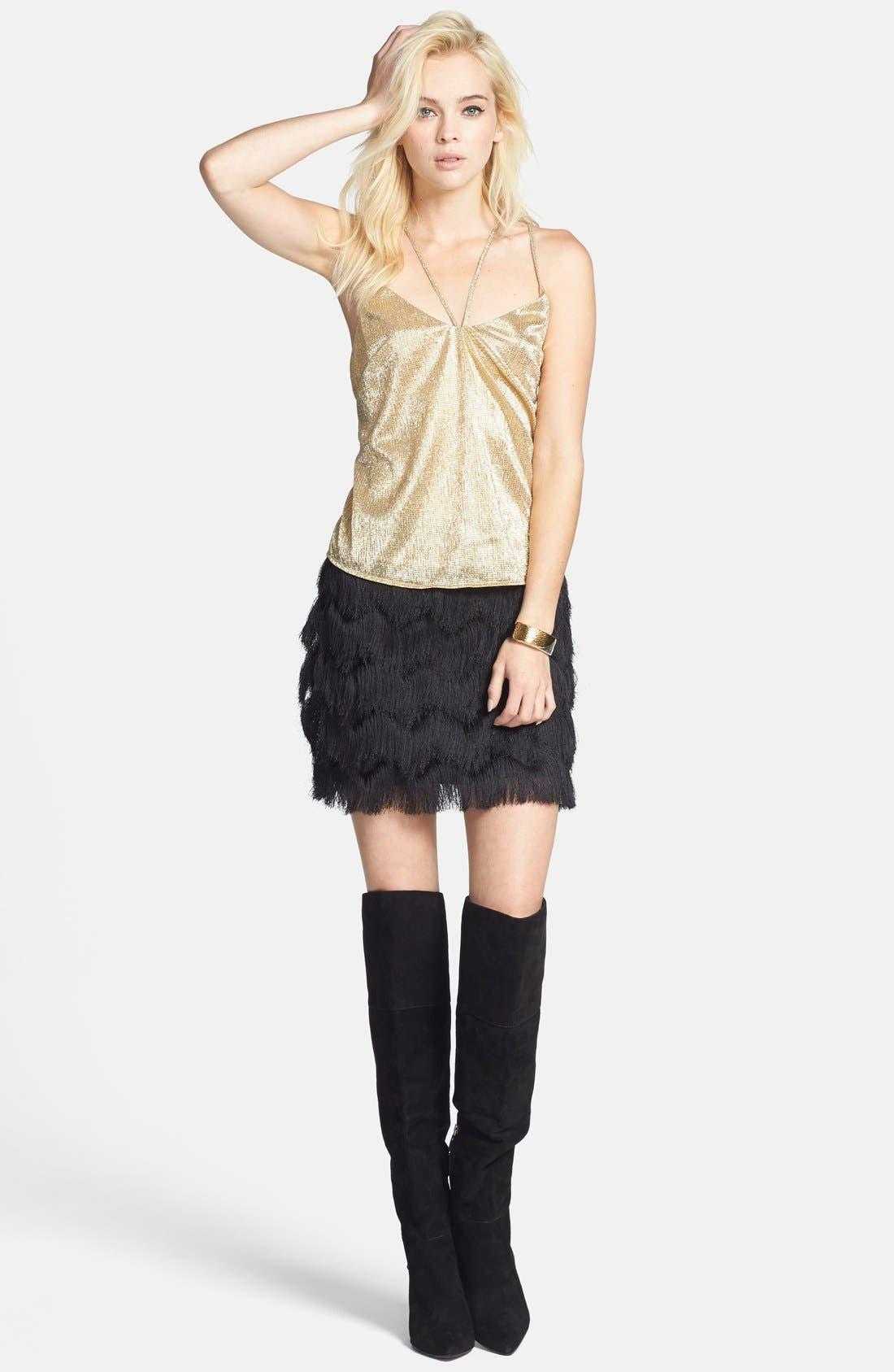 Alternate Image 5  - Leith Fringe Miniskirt