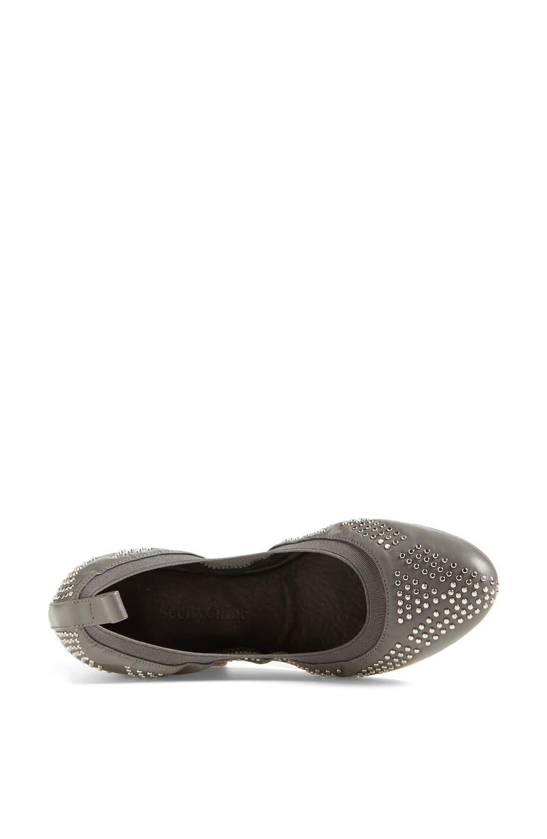 Alternate Image 3  - See by Chloé Studded Leather Ballet Flat (Nordstrom Exclusive) (Women)