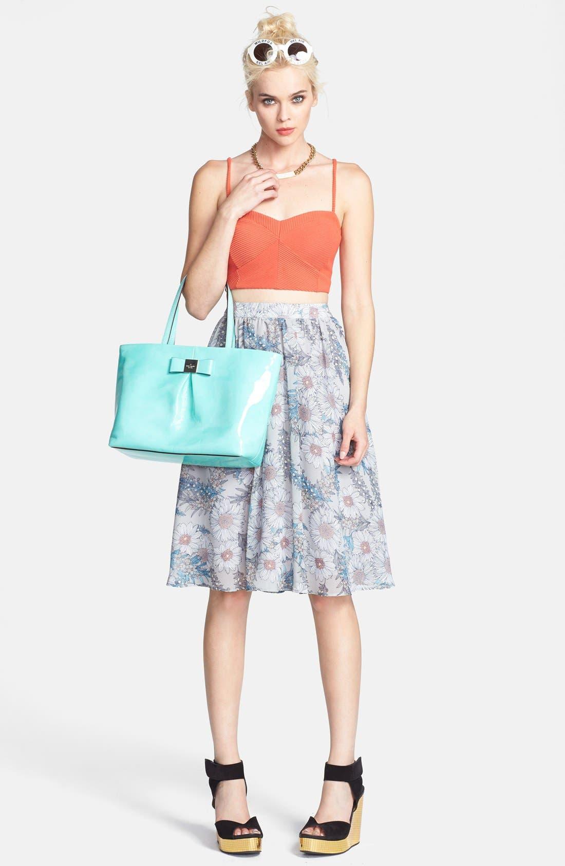 Alternate Image 4  - ASTR Floral Print High Rise Midi Skirt