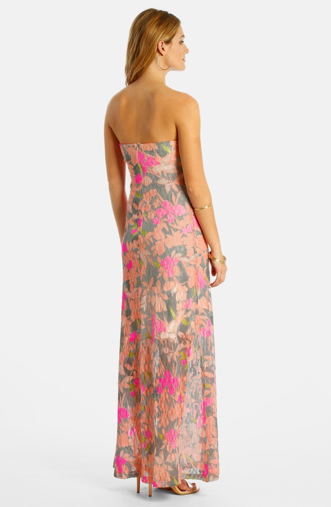 Alternate Image 2  - LABEL by five twelve Burnout Lace Maxi Dress