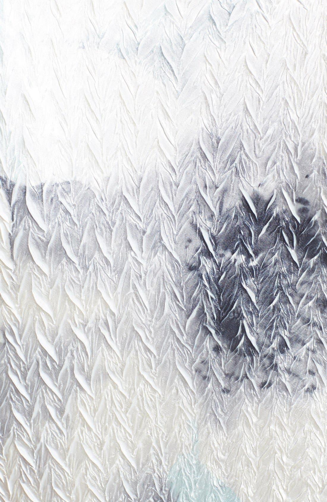 Alternate Image 3  - Komarov Print Charmeuse & Chiffon A-Line Dress
