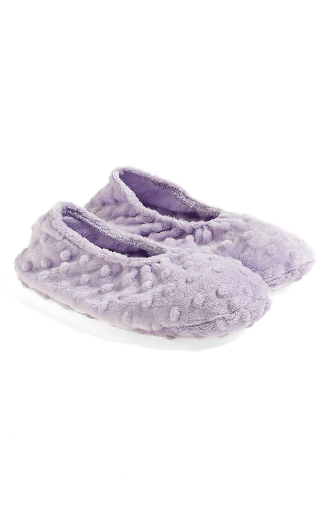 Sonoma Lavender Lilac Dot Footies