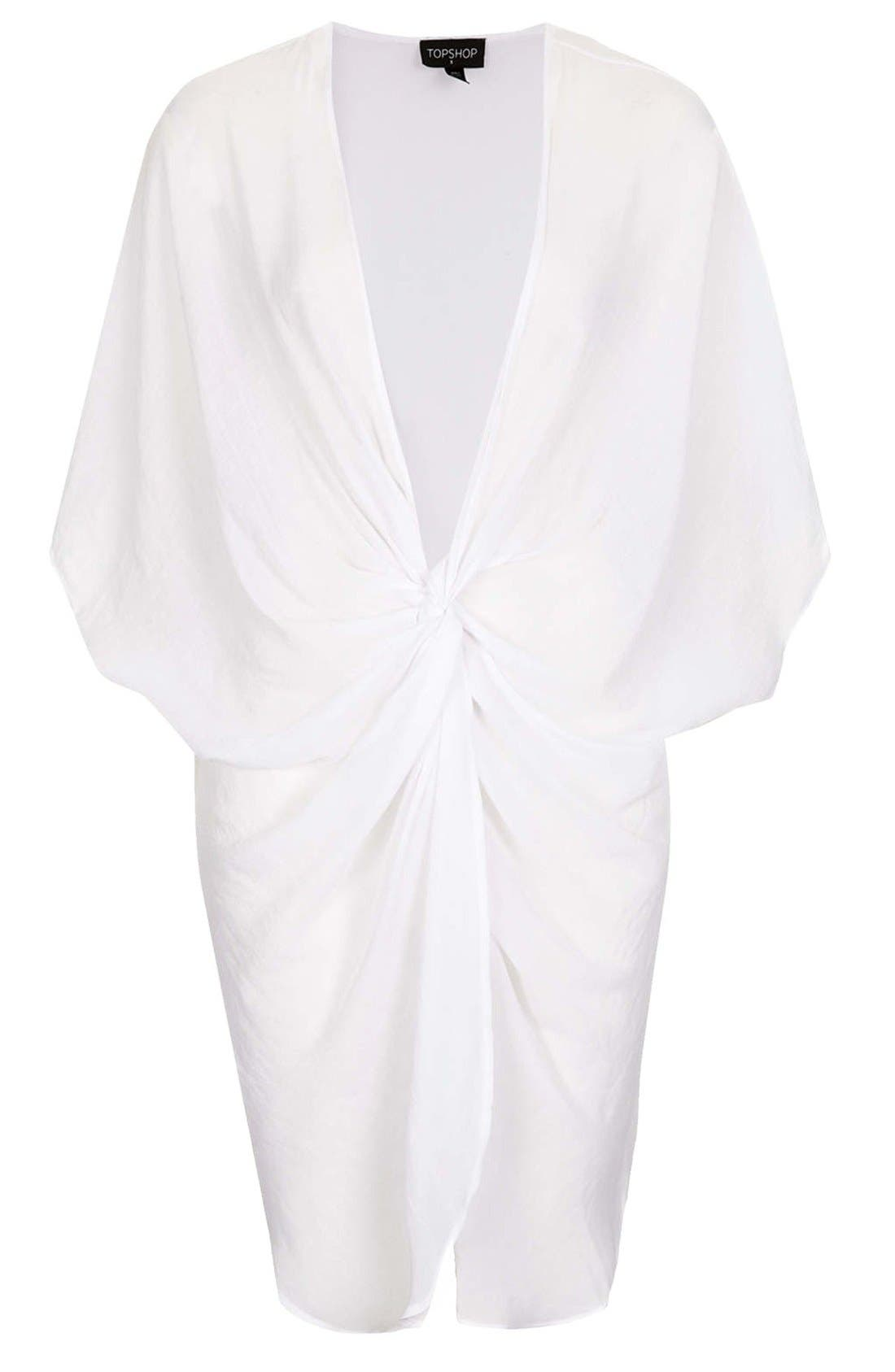 Alternate Image 3  - Topshop Twist Front Tunic Cover-Up