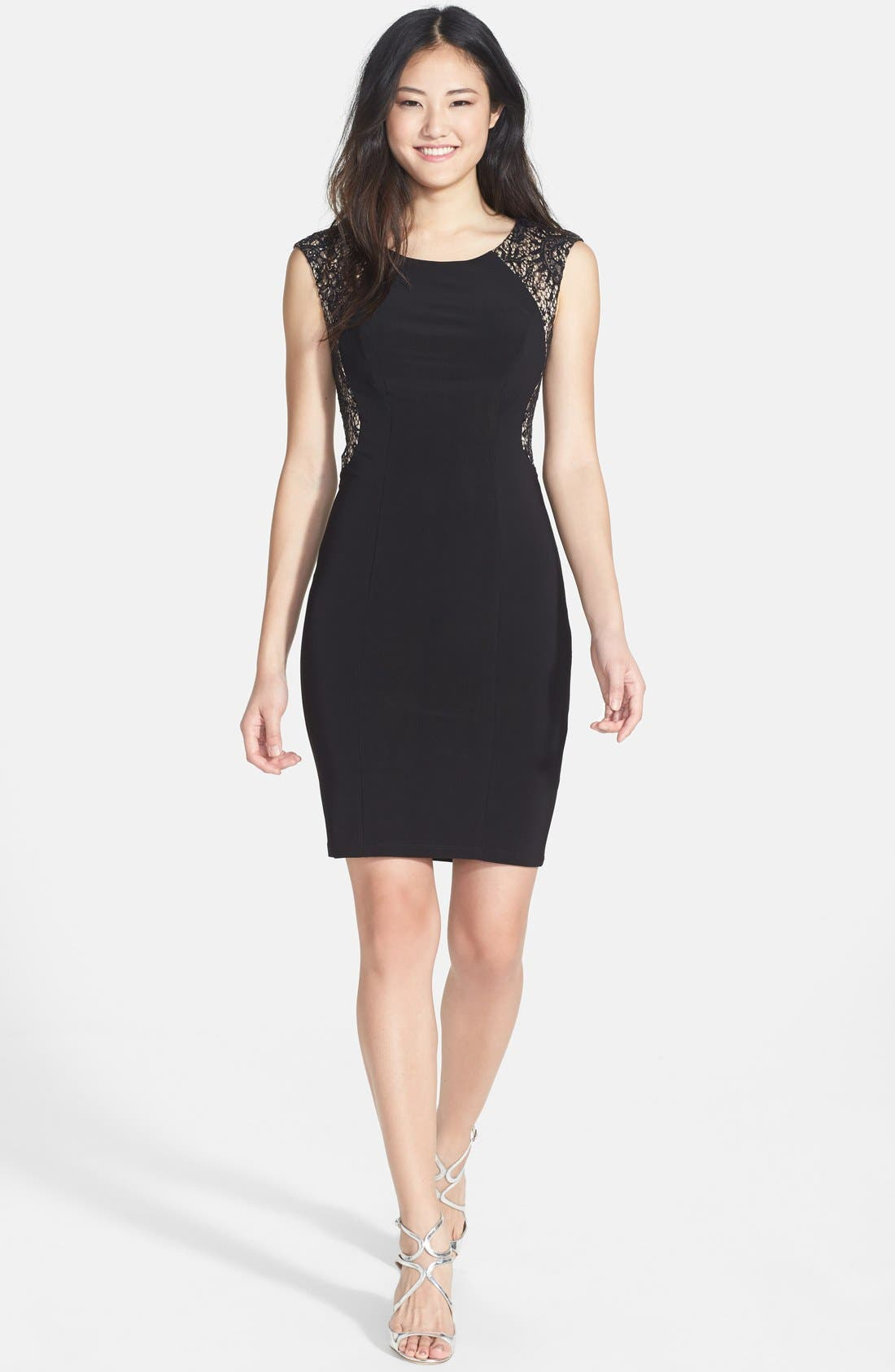 Alternate Image 3  - Xscape Embellished Lace Detail Jersey Sheath Dress