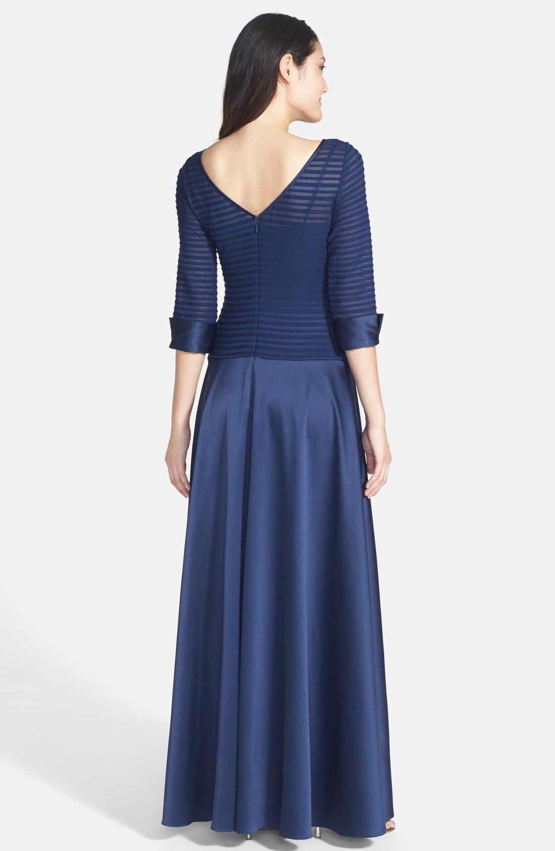 Alternate Image 2  - JS Collections Illusion Bodice Dress (Regular & Petite)