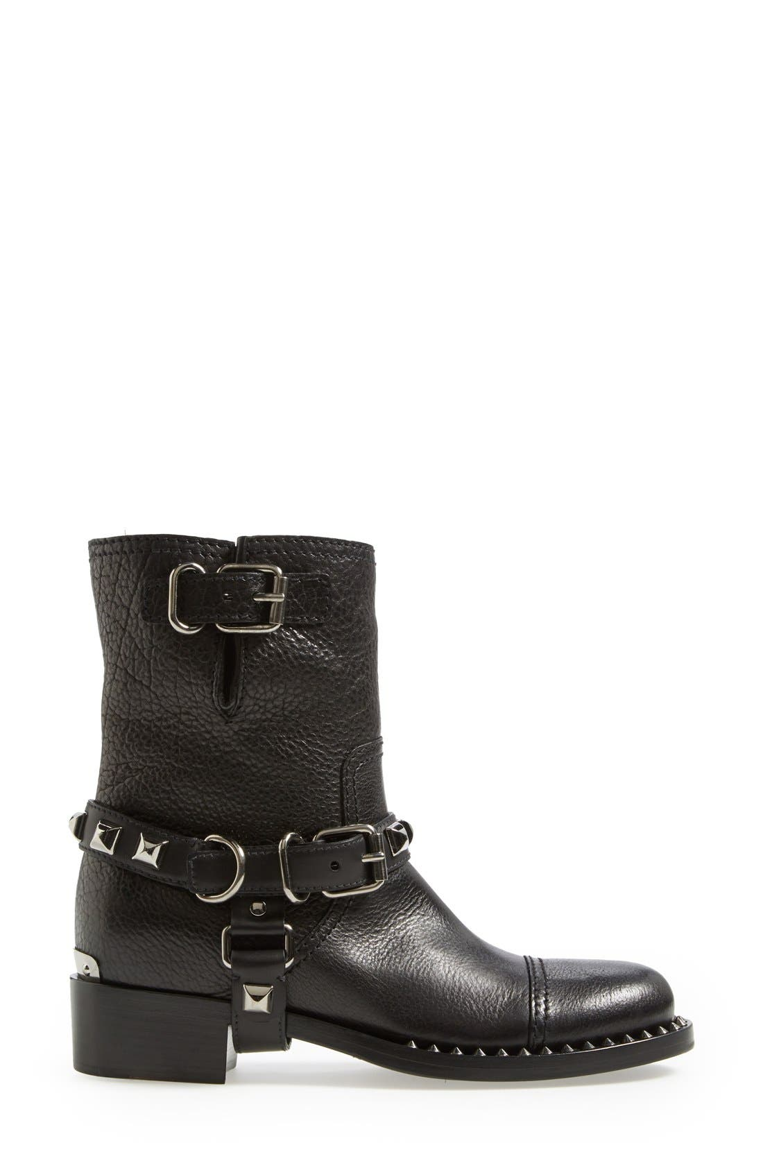 Alternate Image 4  - Miu Miu Studded Harness Moto Boot (Women)