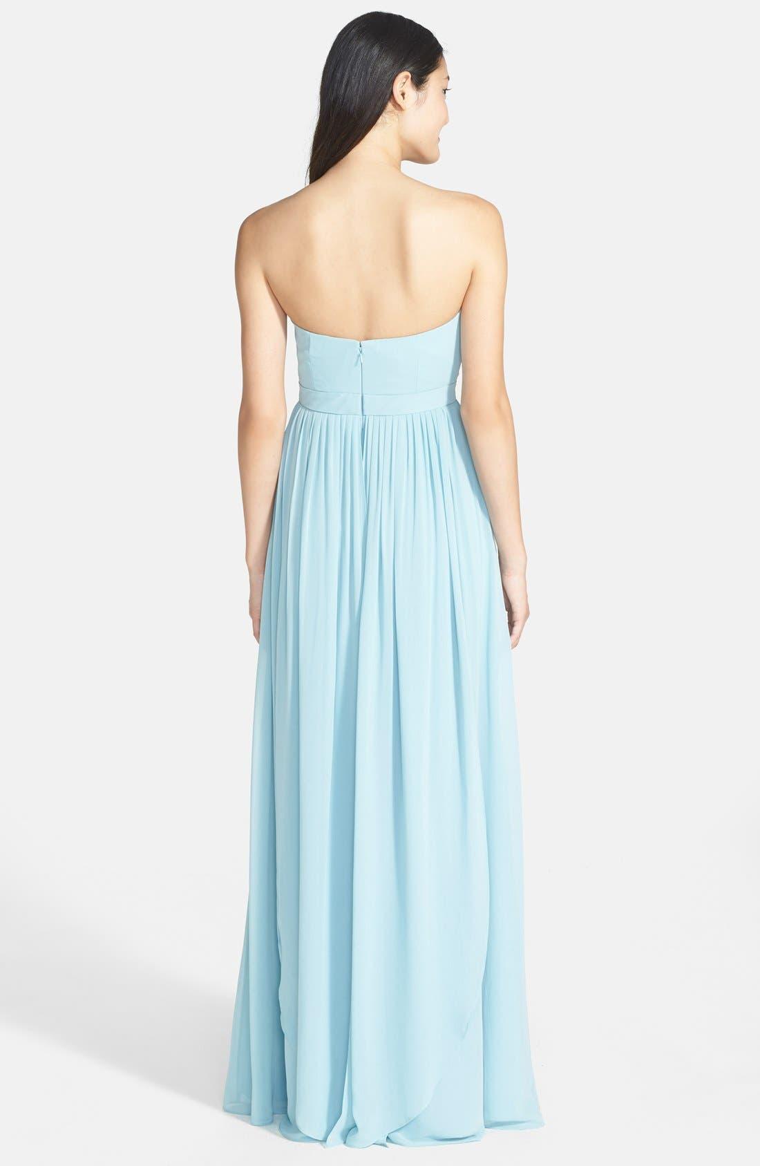 Alternate Image 2  - Jenny Yoo 'Aidan' Convertible Strapless Chiffon Gown