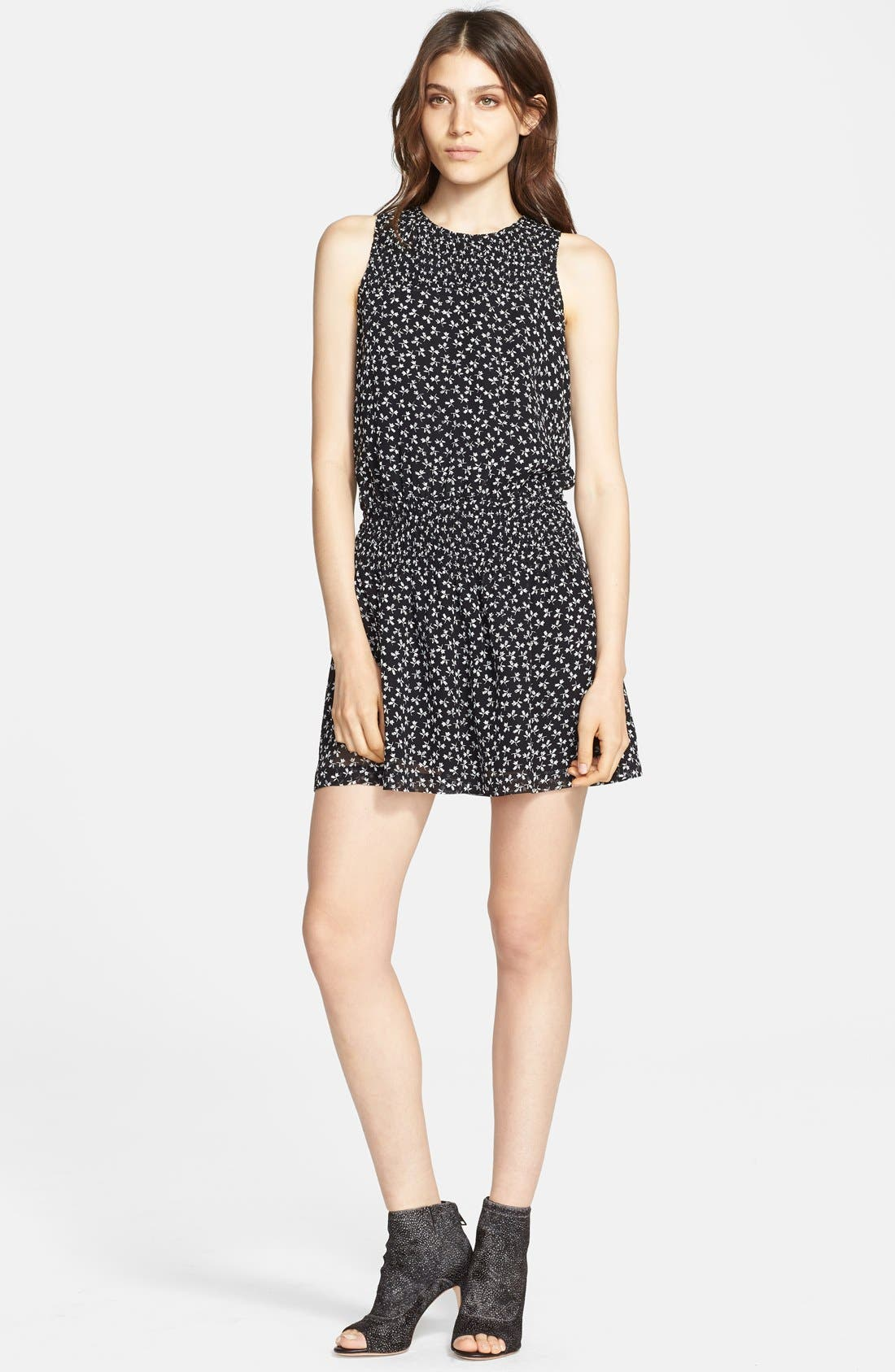 Main Image - Joie 'Kieran' Print Silk Blouson Dress