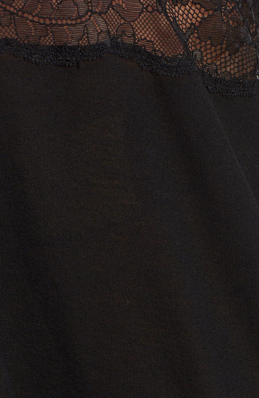 Alternate Image 3  - Oscar de la Renta 'Love of Lace' Chemise (Plus Size)
