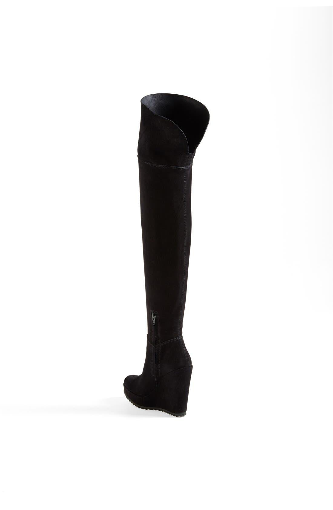 'Vanne' Over-the-Knee Boot,                             Alternate thumbnail 2, color,                             Black