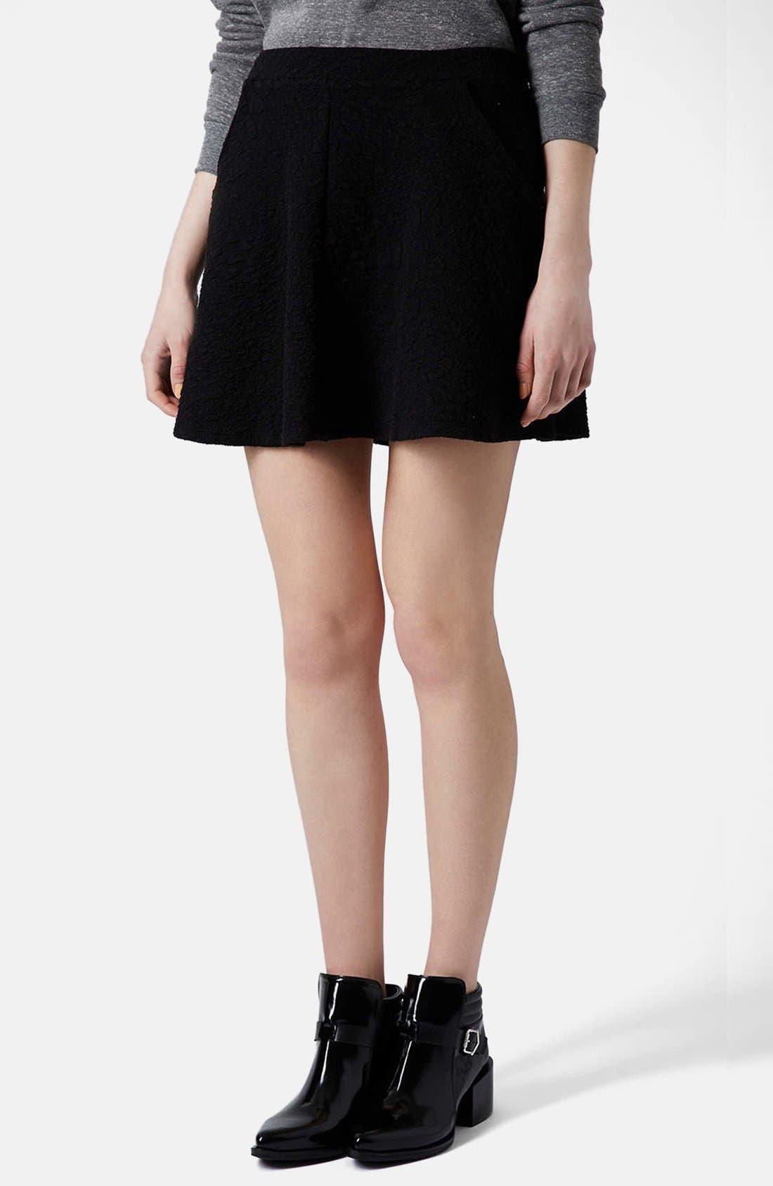 Alternate Image 1 Selected - Topshop Jacquard Skater Skirt