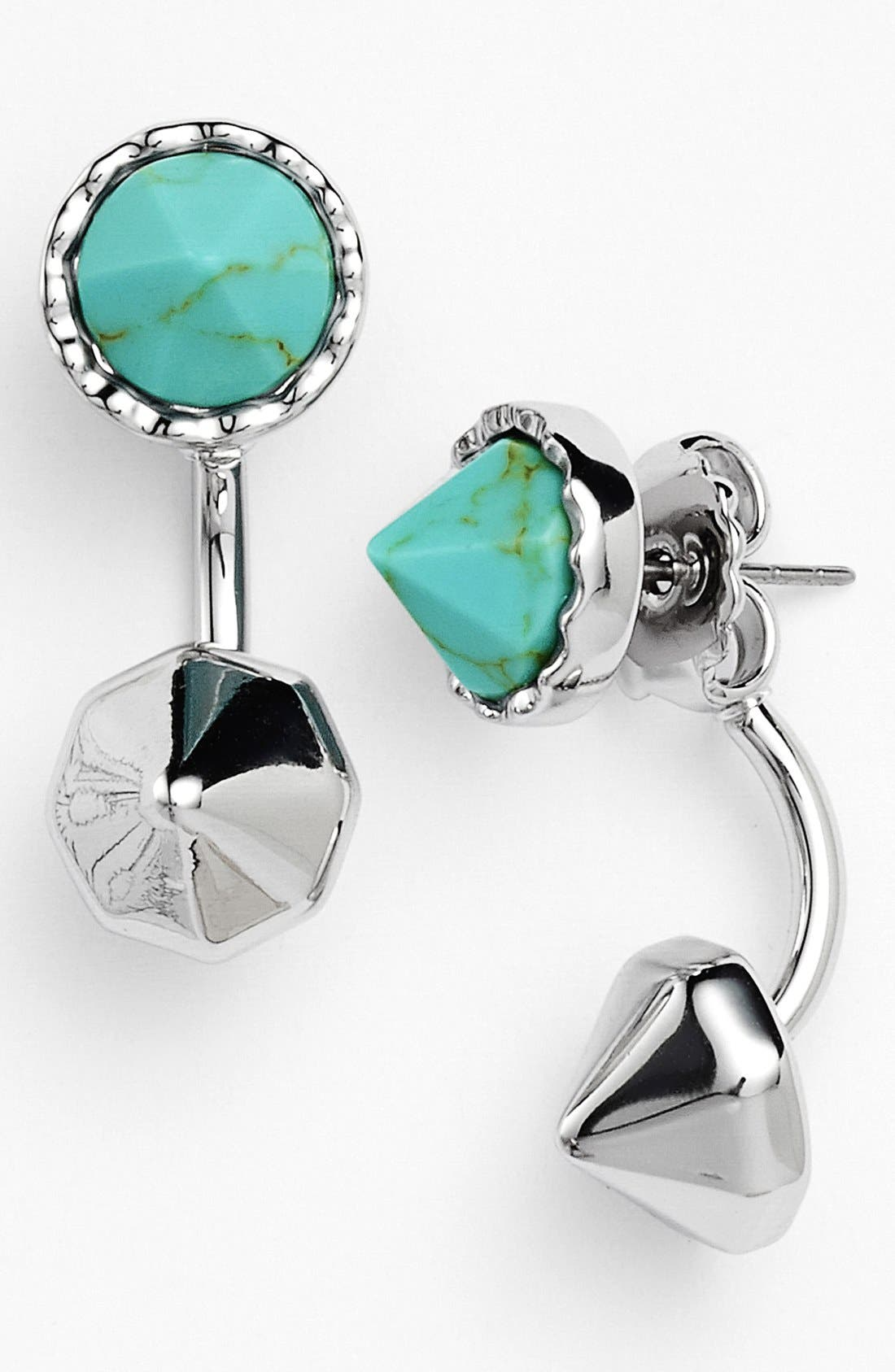 'Tulum' Drop Earrings,                             Main thumbnail 1, color,                             Turquoise/ Silver