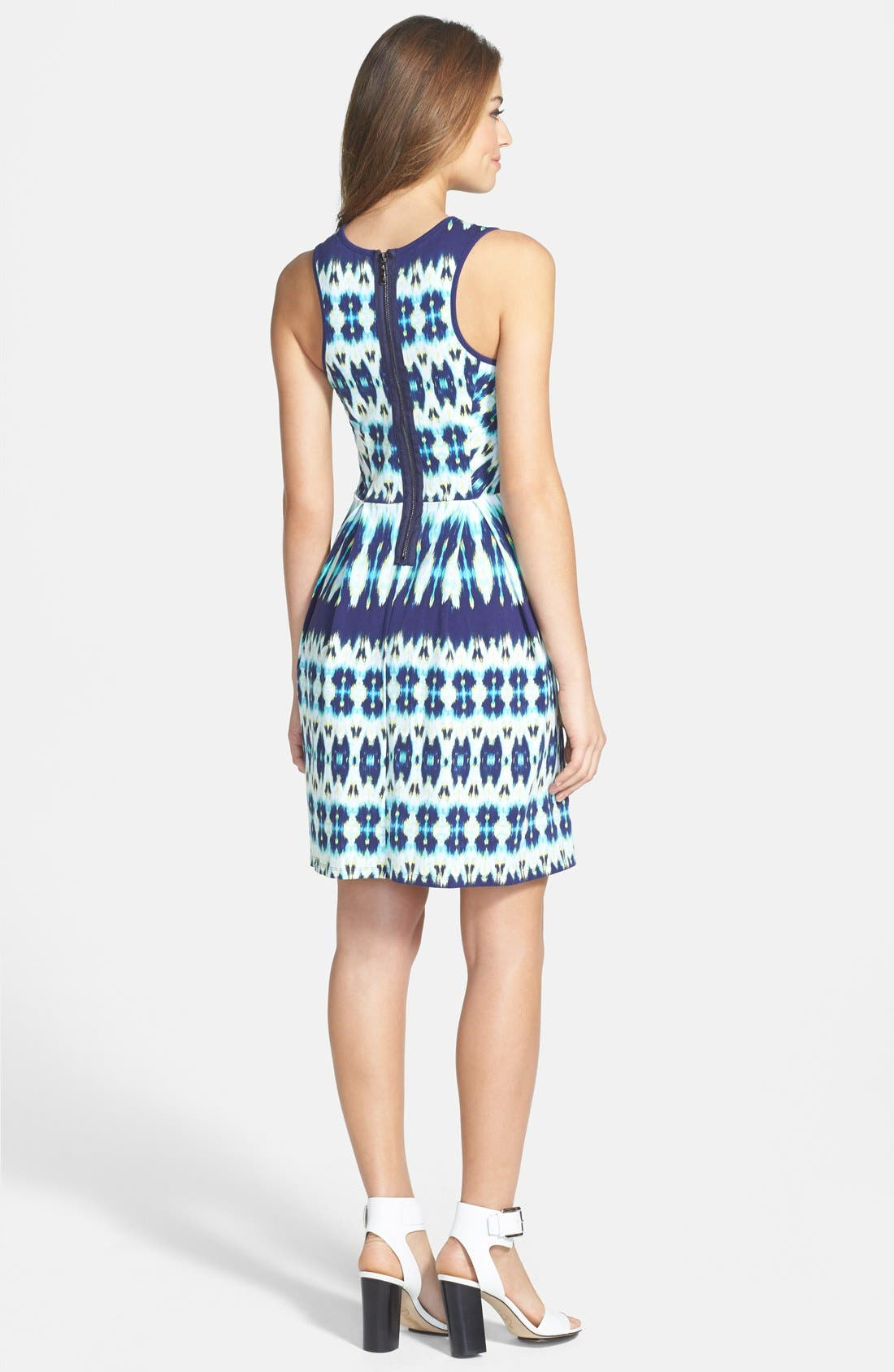 Alternate Image 2  - Felicity & Coco Stripe Stretch Cotton Fit & Flare Dress (Nordstrom Exclusive)