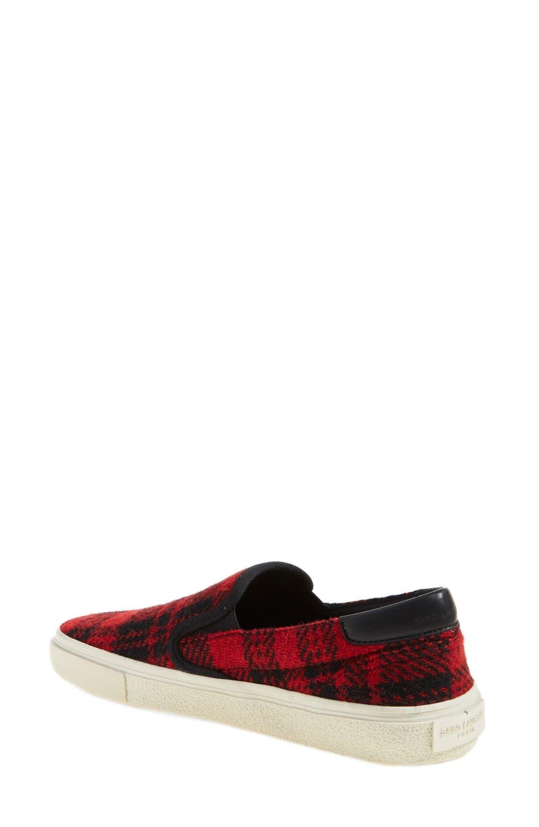 Alternate Image 2  - Saint Laurent 'Skate' Slip-On Sneaker (Women)