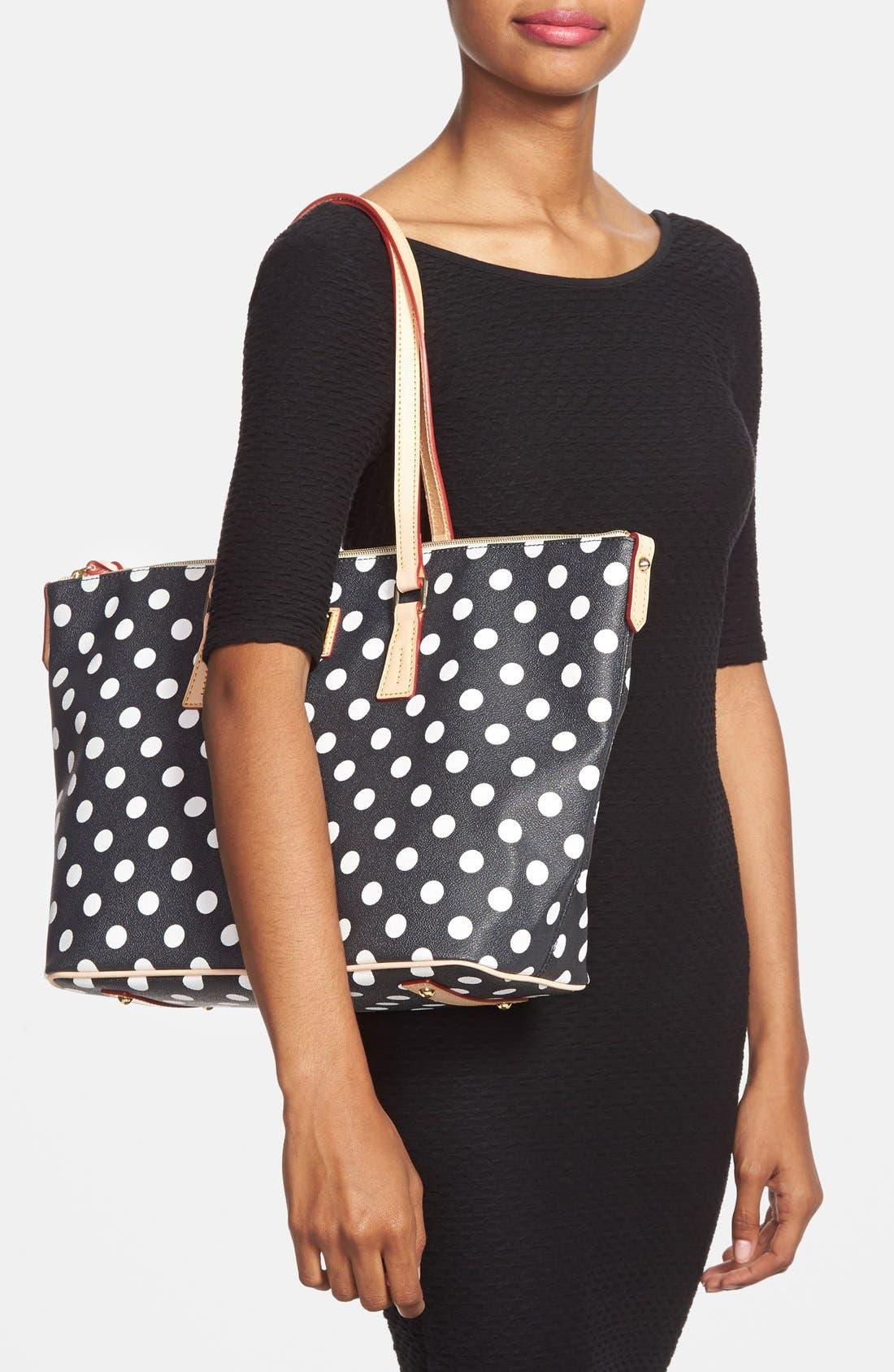 Alternate Image 2  - Dooney & Bourke Polka Dot Shopper