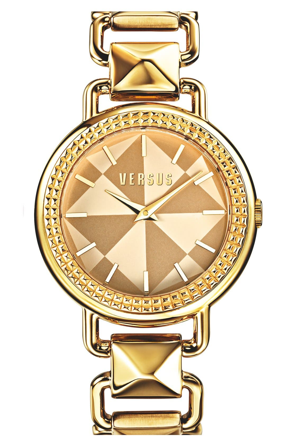 Main Image - VERSUS by Versace 'Coconut Grove' Pyramid Link Bracelet Watch, 38mm