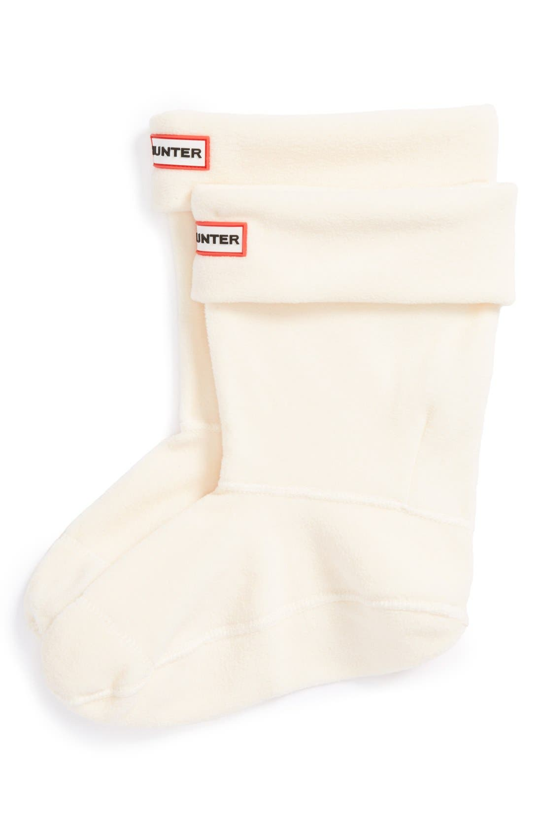 Short Fleece Welly Boot Socks,                         Main,                         color, Cream Fleece