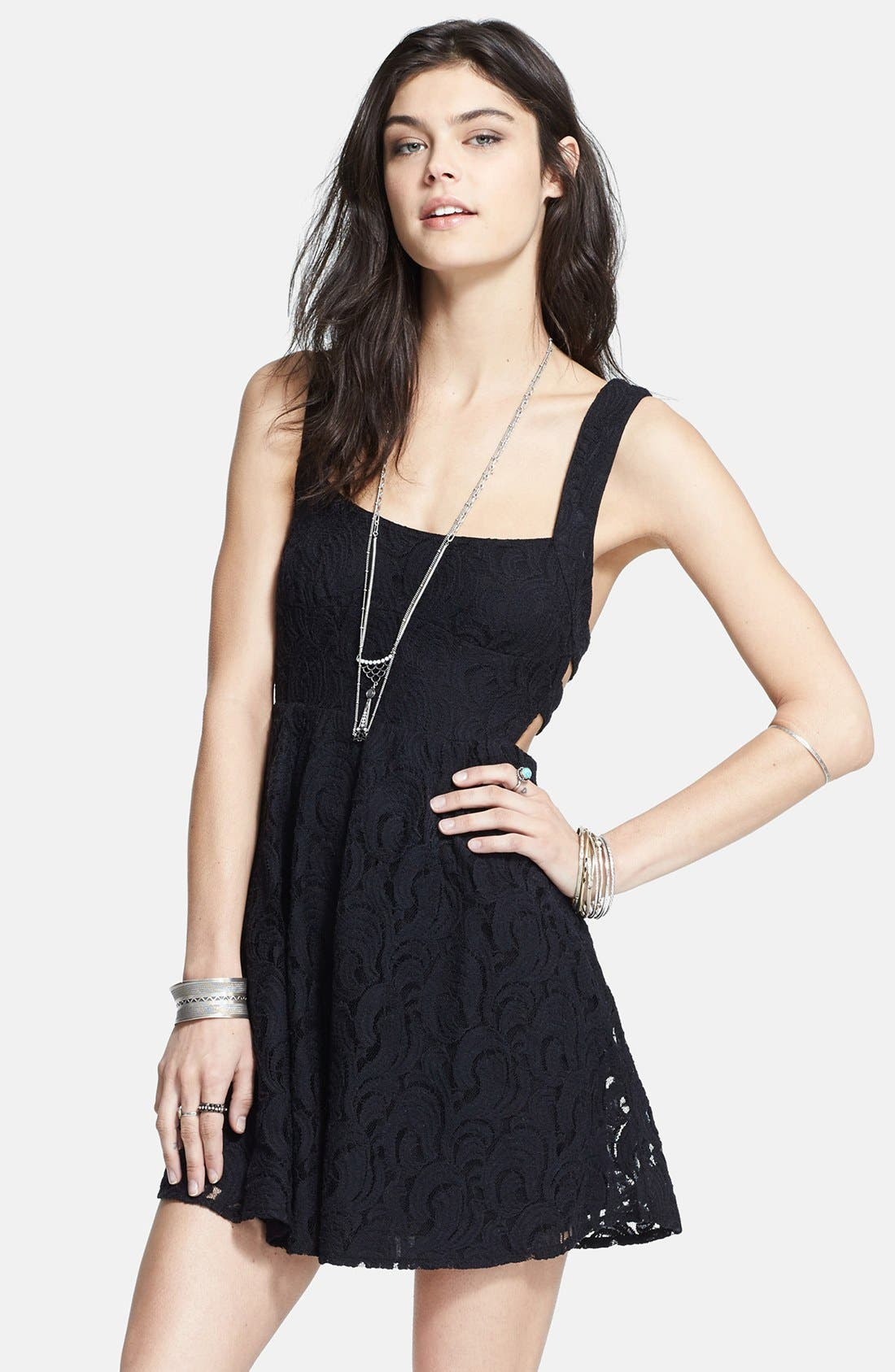 Main Image - Free People Cutout Lace Dress