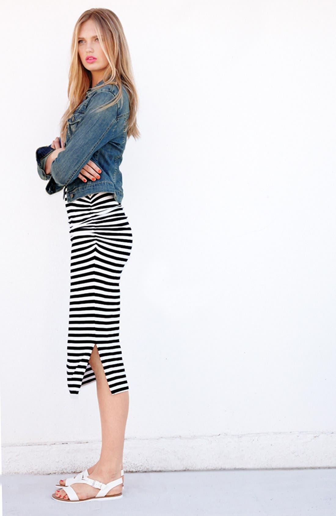 Alternate Image 4  - Halogen® Racerback Stretch Knit Midi Dress