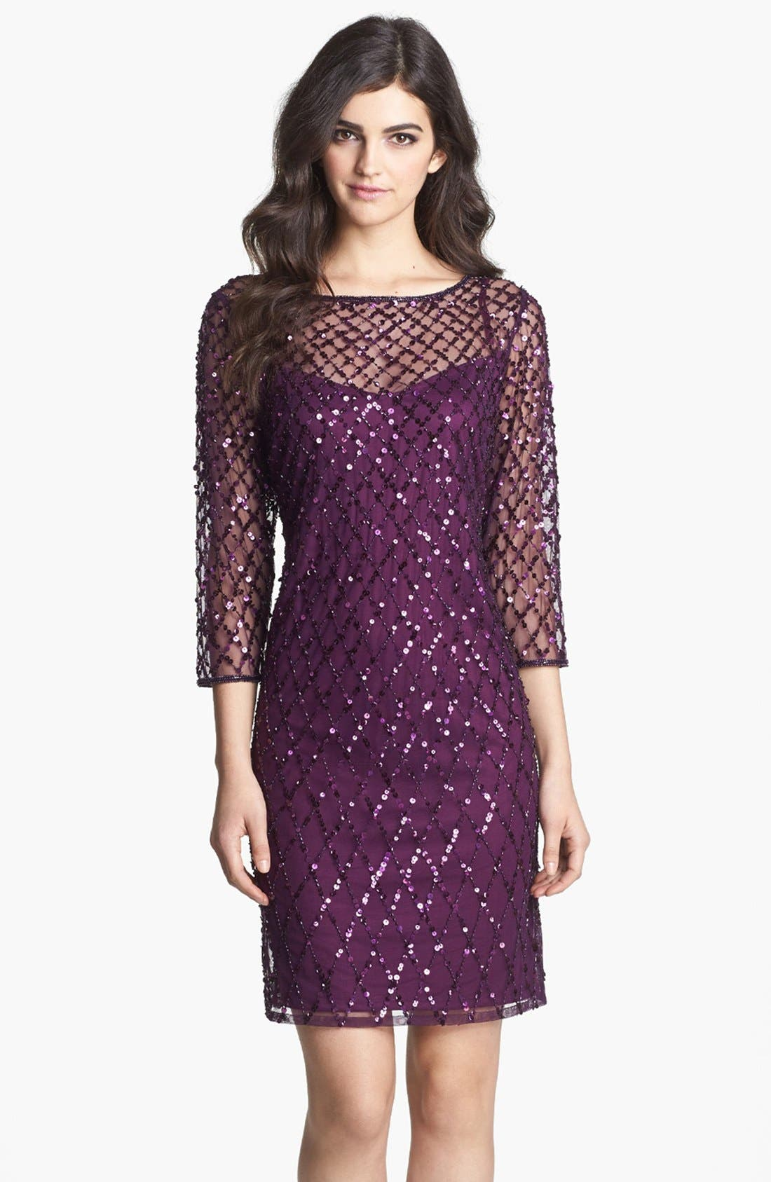 Alternate Image 1 Selected - Pisarro Nights Beaded Short Dress