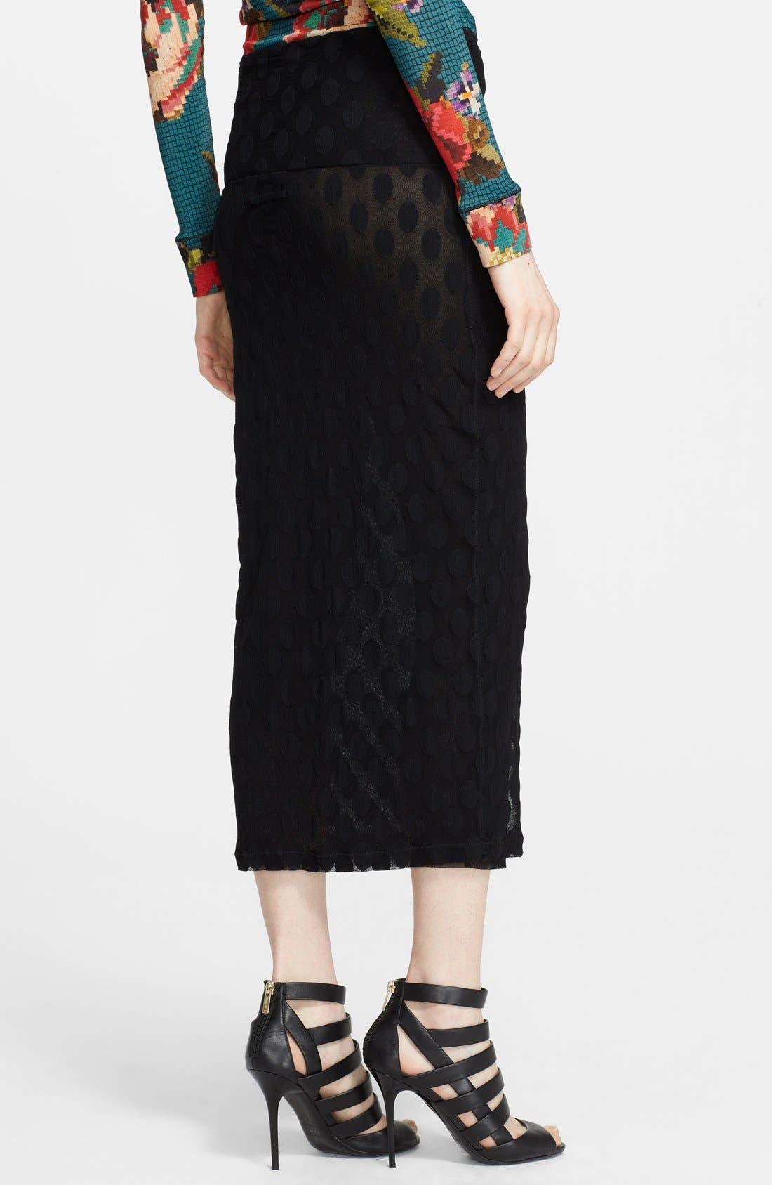 Alternate Image 2  - Jean Paul Gaultier Flocked Midi Skirt