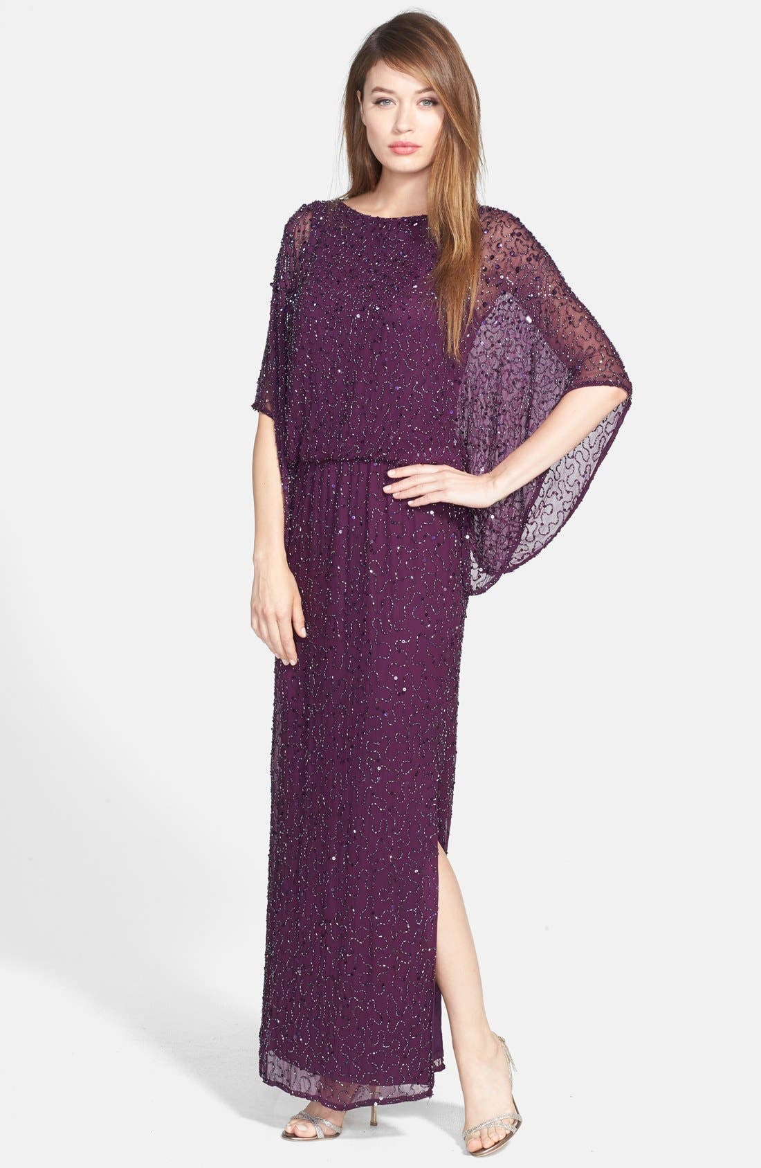 Main Image - Patra Embellished Silk Blouson Gown