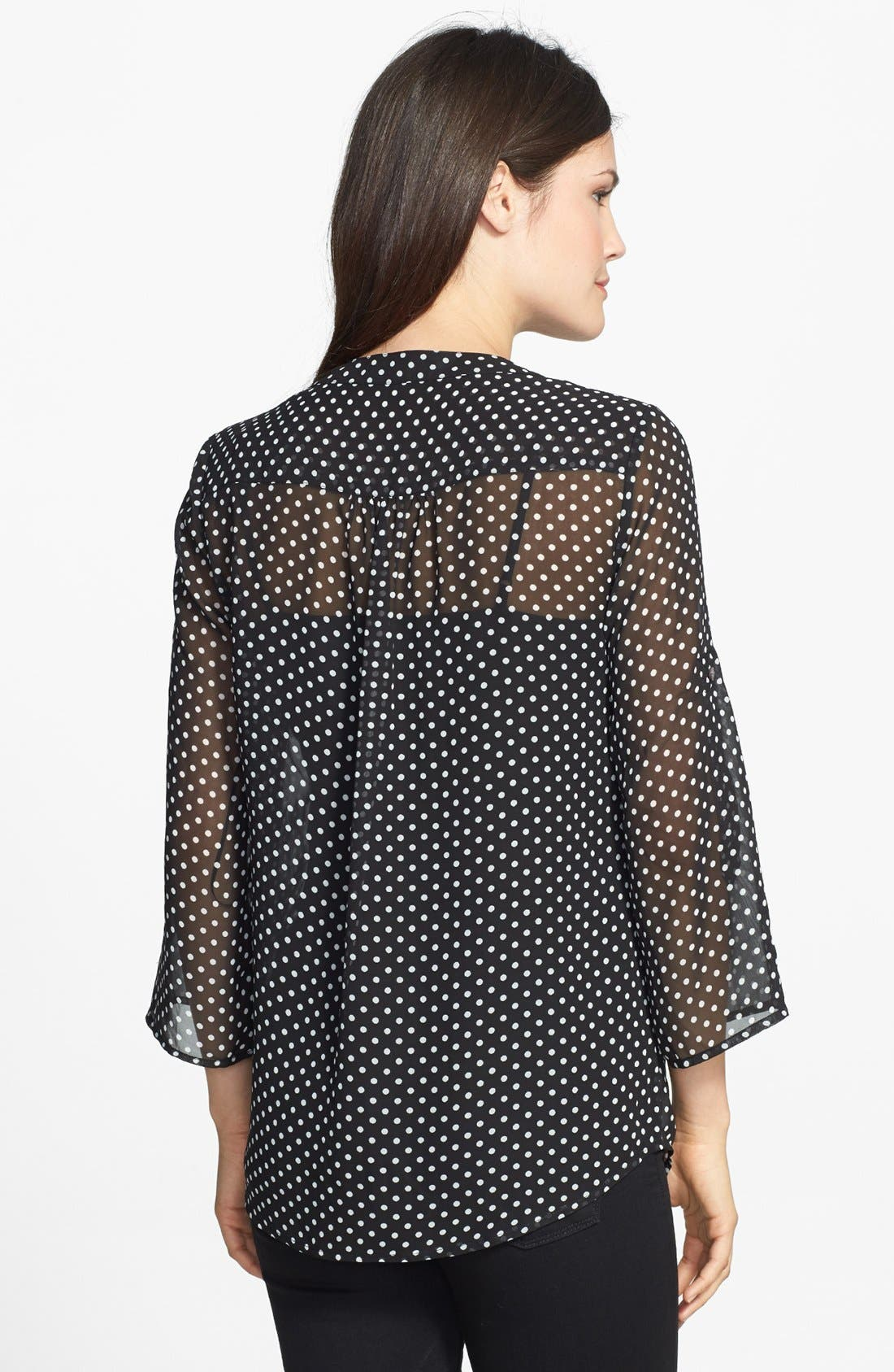 Alternate Image 2  - Chaus 'Sweet Dot' Pintuck Blouse