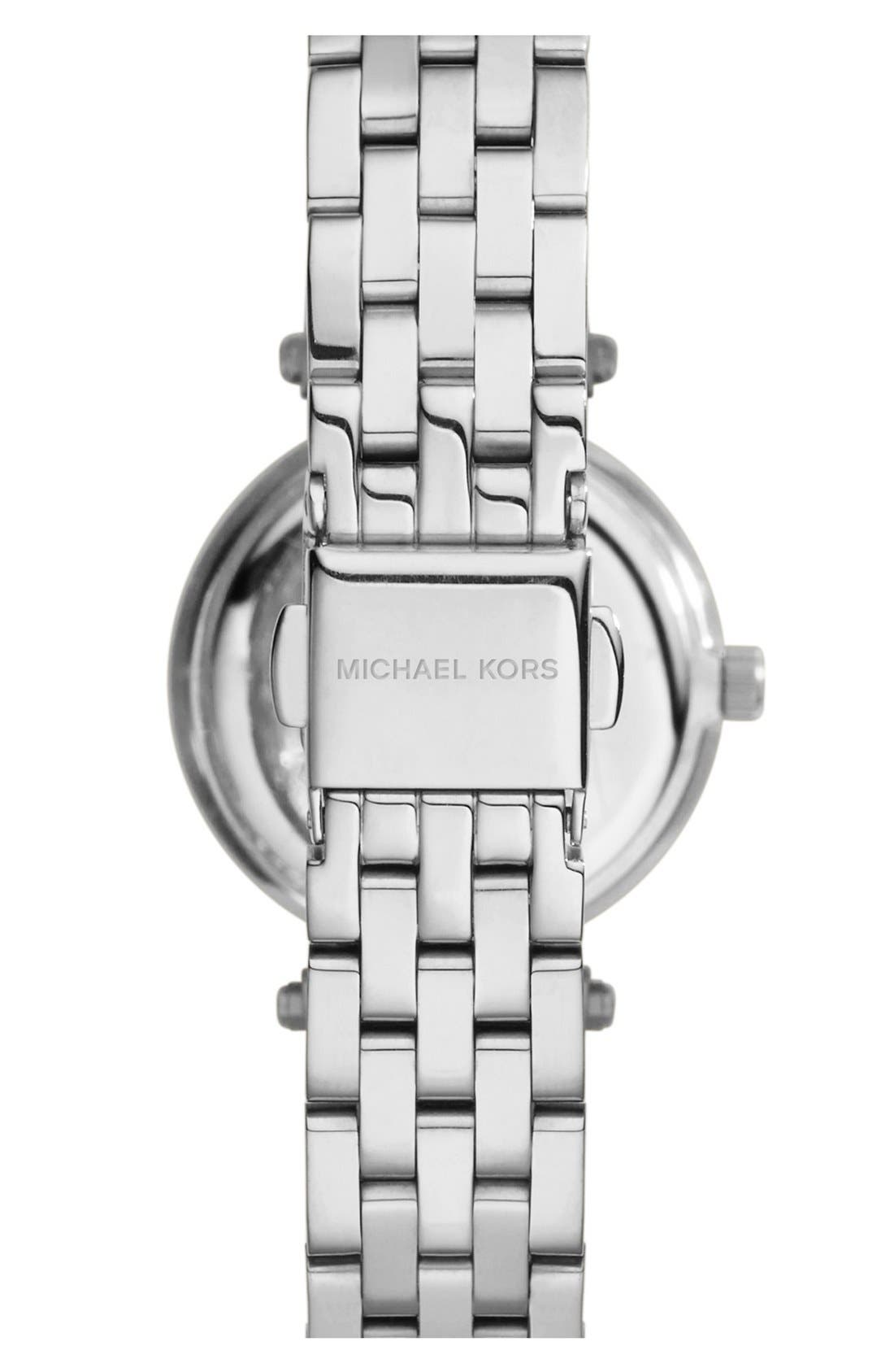 Alternate Image 2  - Michael Kors 'Petite Darci' Crystal Bezel Bracelet Watch, 26mm