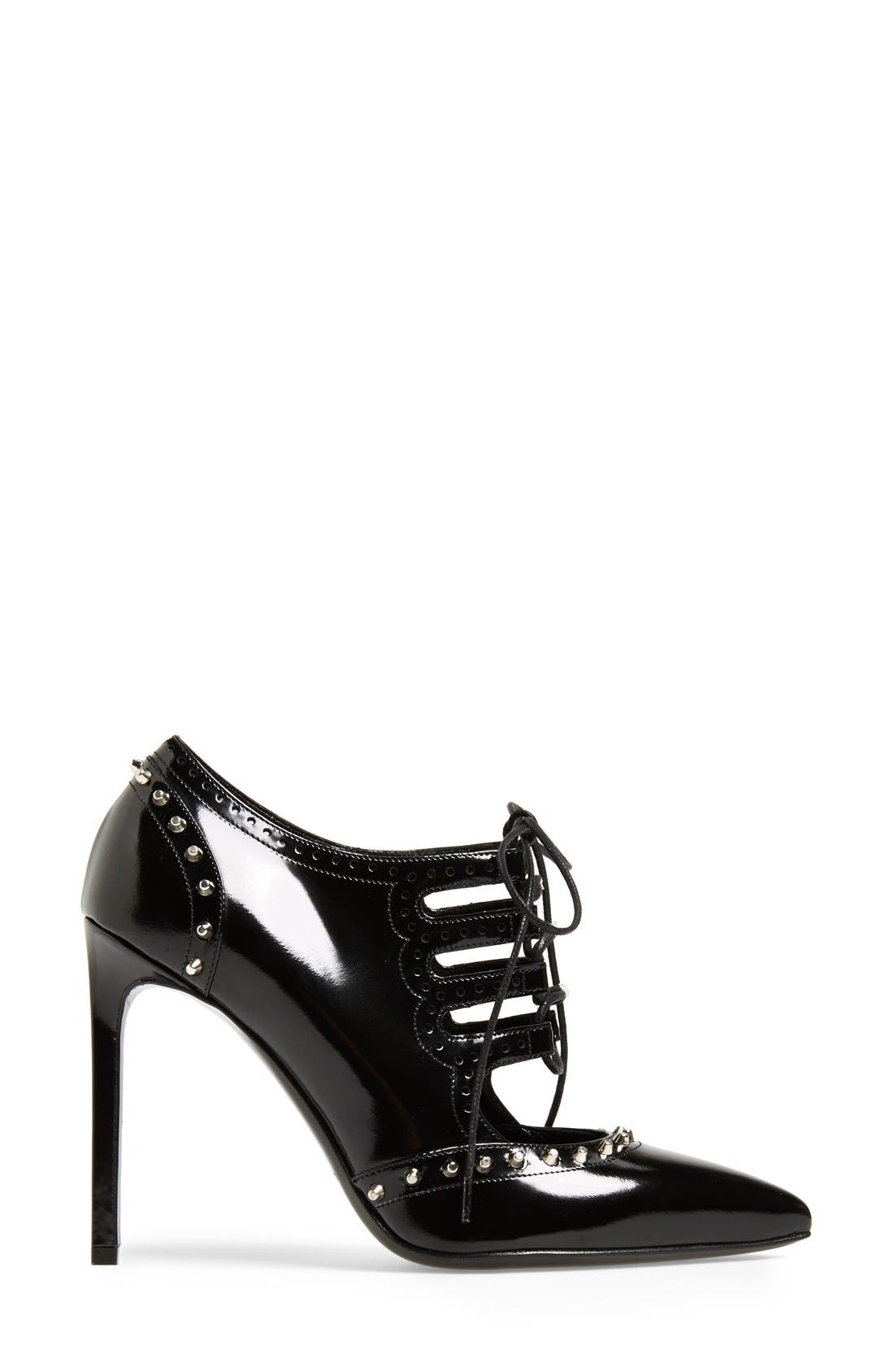Alternate Image 4  - Saint Laurent Lace-Up Pointed Toe Bootie (Women)