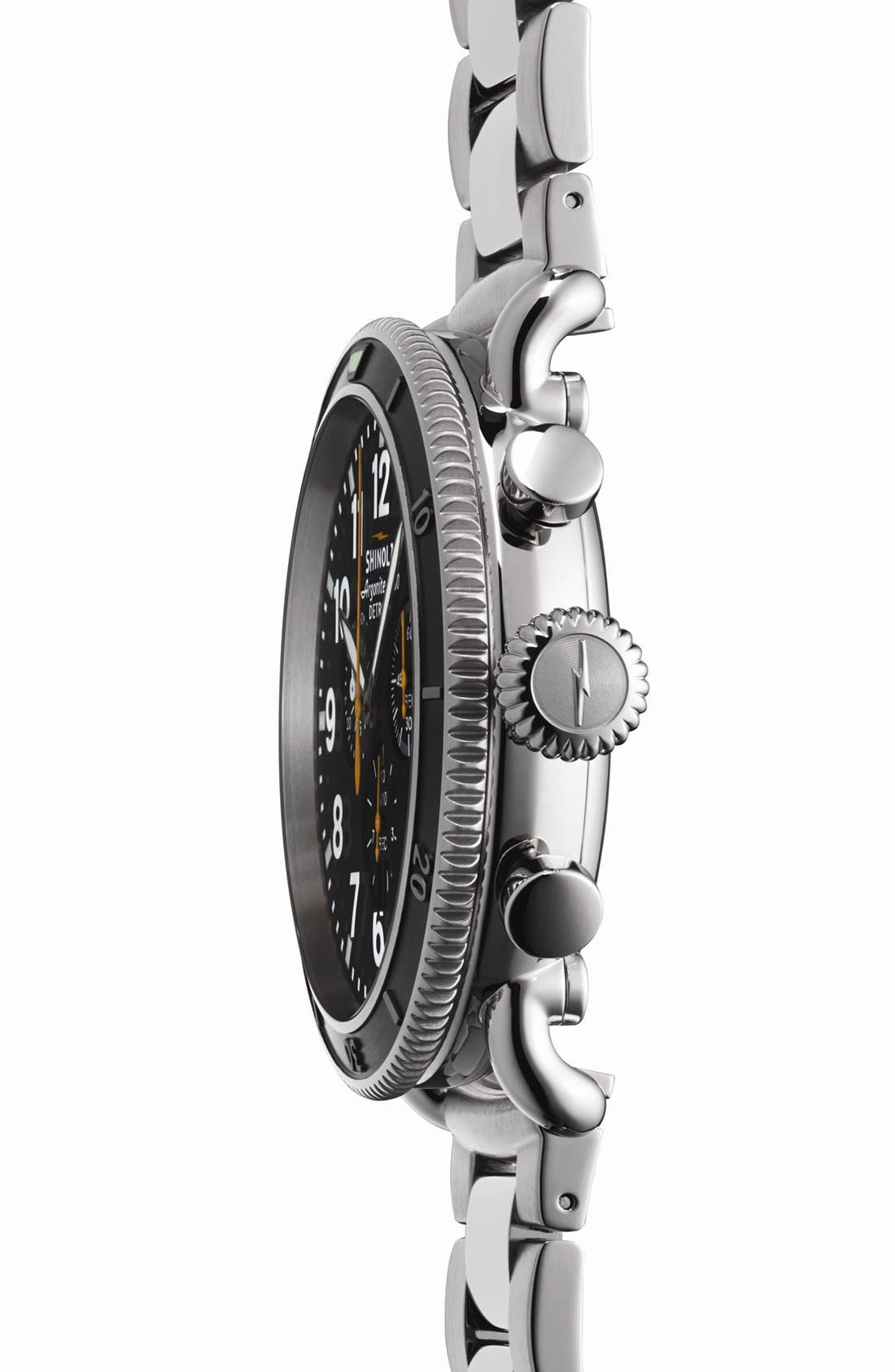 'The Runwell Chrono' Bracelet Watch, 48mm,                             Alternate thumbnail 3, color,                             Silver/ Black