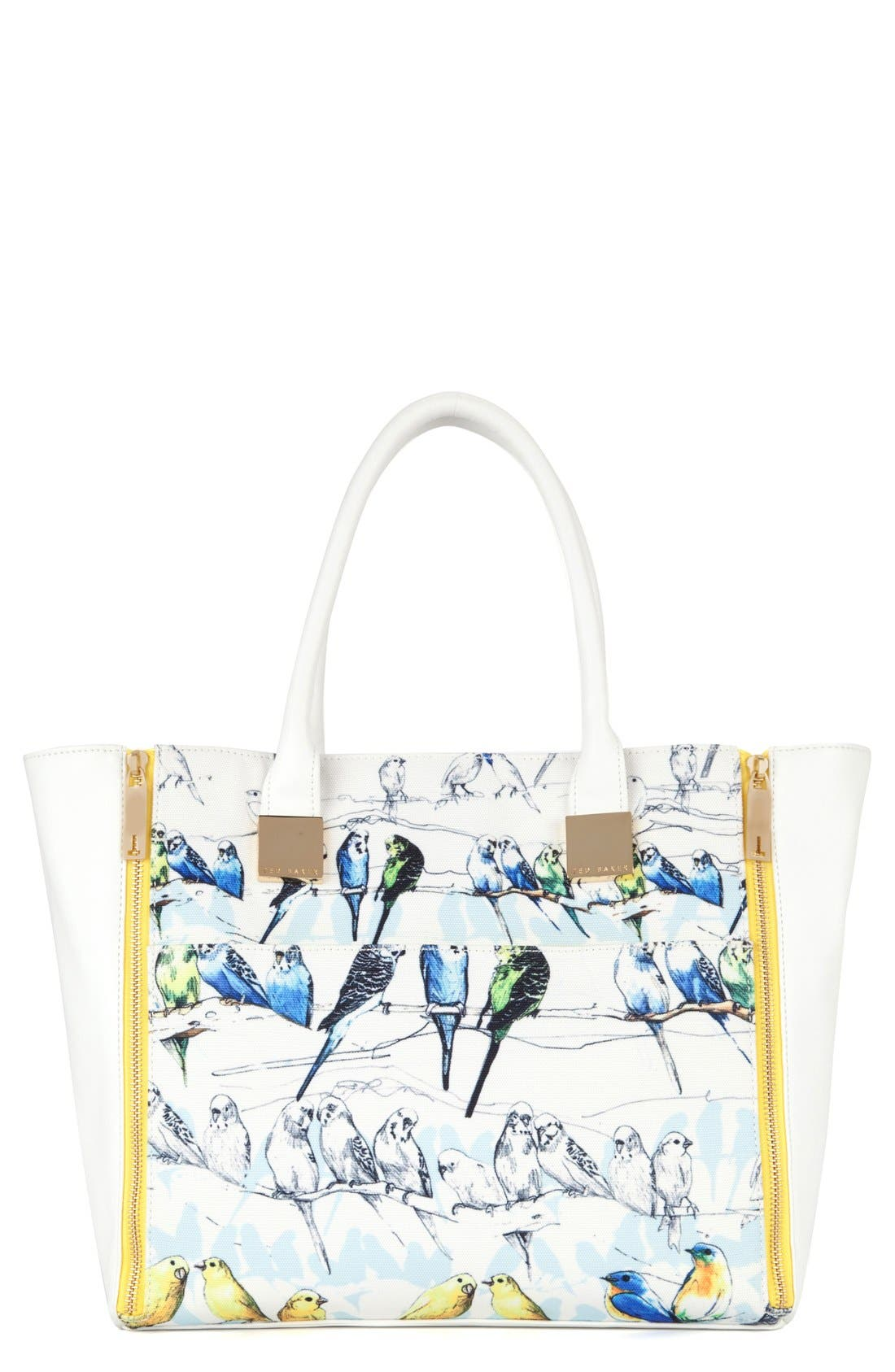 Alternate Image 1 Selected - Ted Baker London 'Canary' Crosshatch Shopper