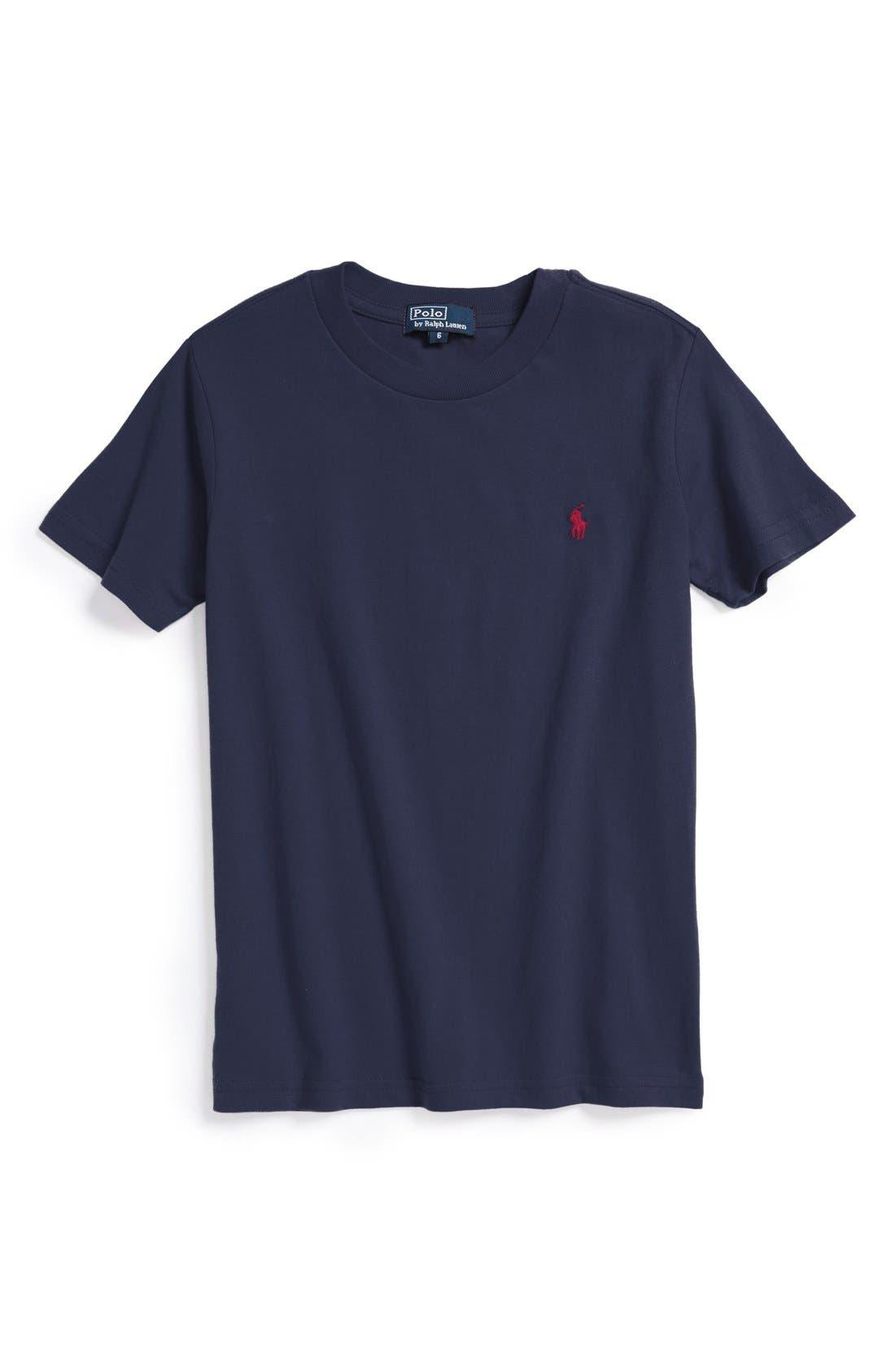 Alternate Image 1 Selected - Ralph Lauren Cotton Crewneck T-Shirt (Little Boys)