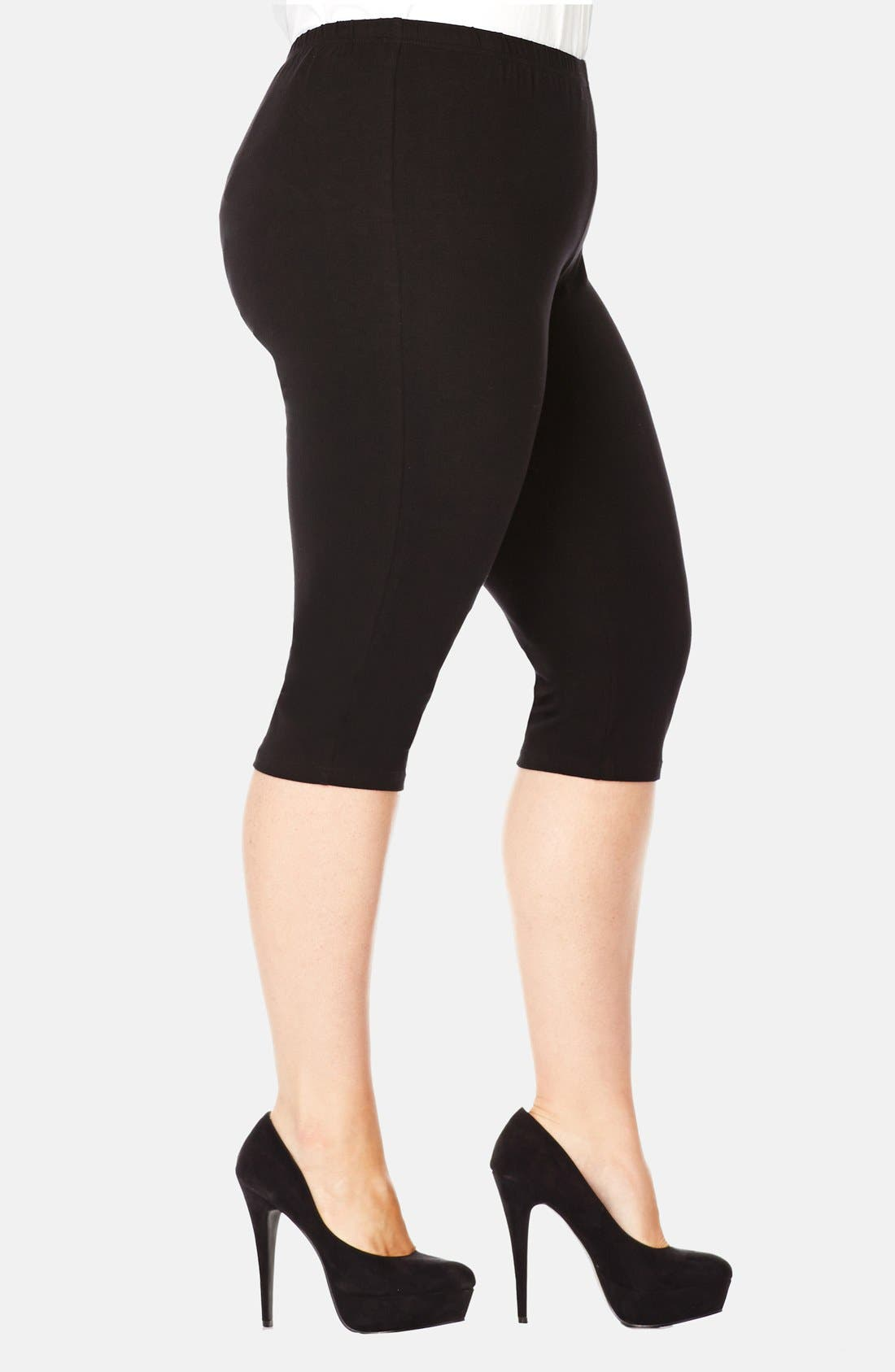 Alternate Image 3  - City Chic Three-Quarter-Length Leggings (Plus Size)