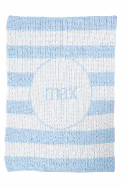 Keepsakes baby shower gifts nordstrom butterscotch blankees modern stripe personalized stroller blanket negle Choice Image