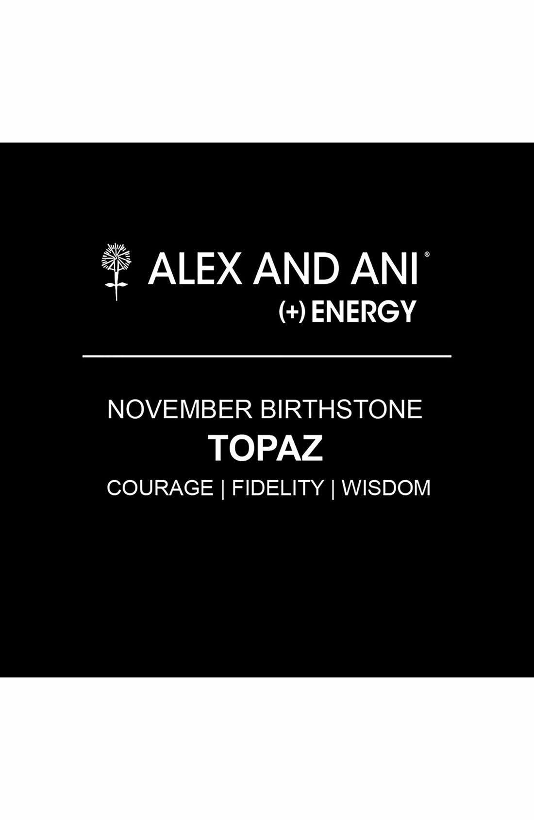 Alternate Image 2  - Alex and Ani Birthstone Expandable Wire Bangle