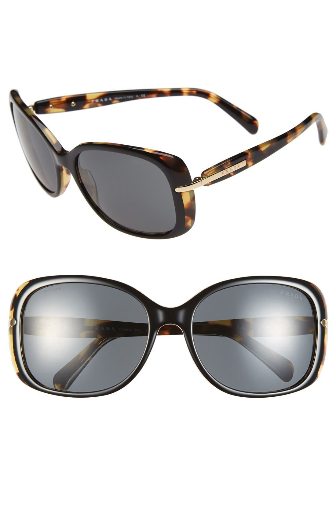Prada 57mm Retro Sunglasses