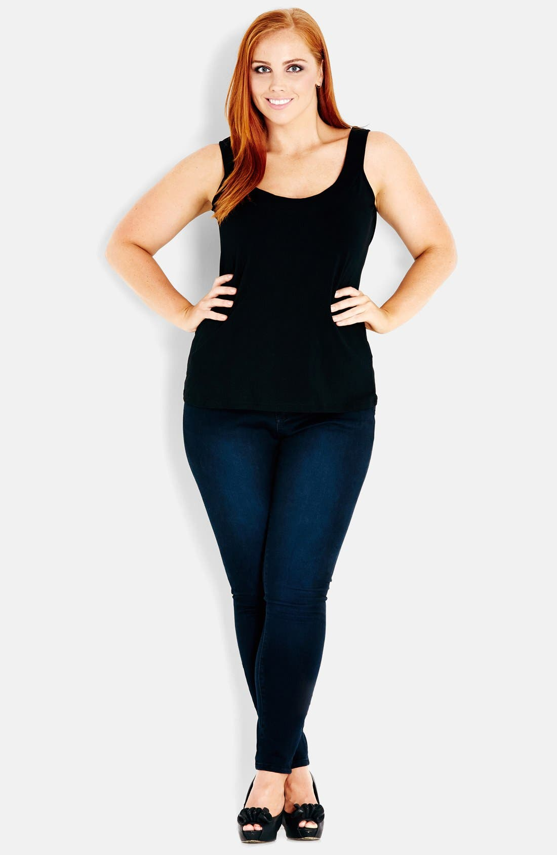 Alternate Image 1 Selected - City Chic 'Ballerina' Camisole (Plus Size)