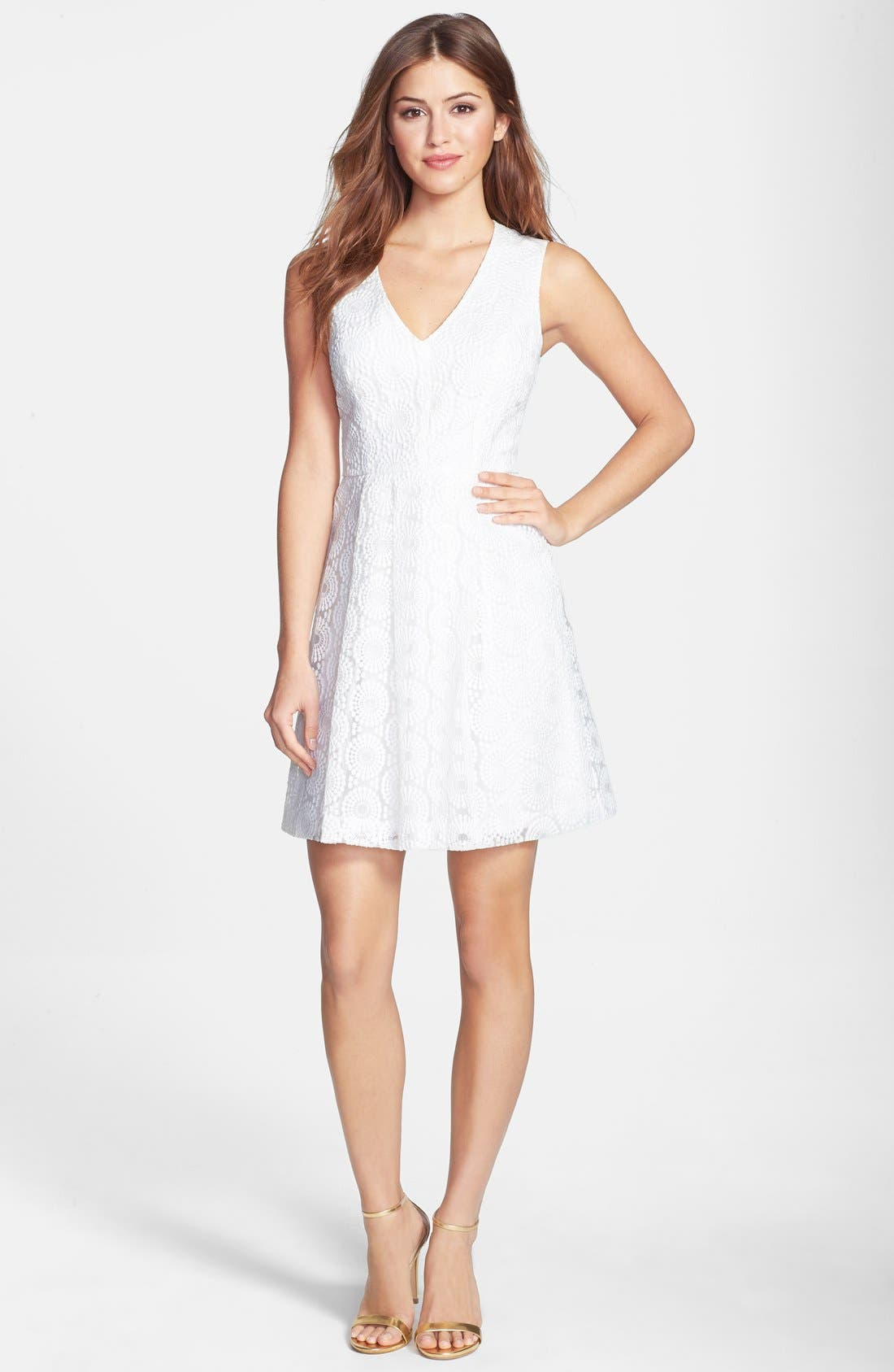 Alternate Image 3  - Plenty by Tracy Reese 'Ashley' Lace Fit & Flare Dress (Petite)