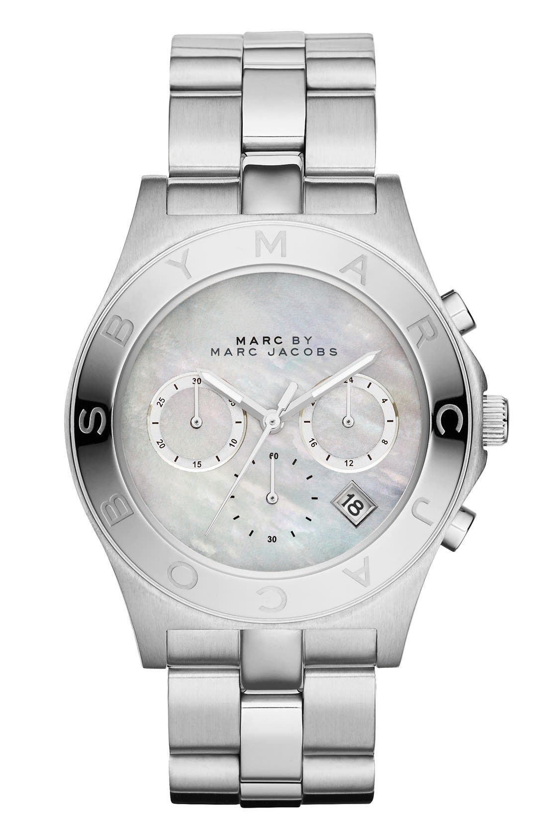 Main Image - MARC JACOBS 'Blade' Chronograph Bracelet Watch, 40mm (Nordstrom Exclusive)