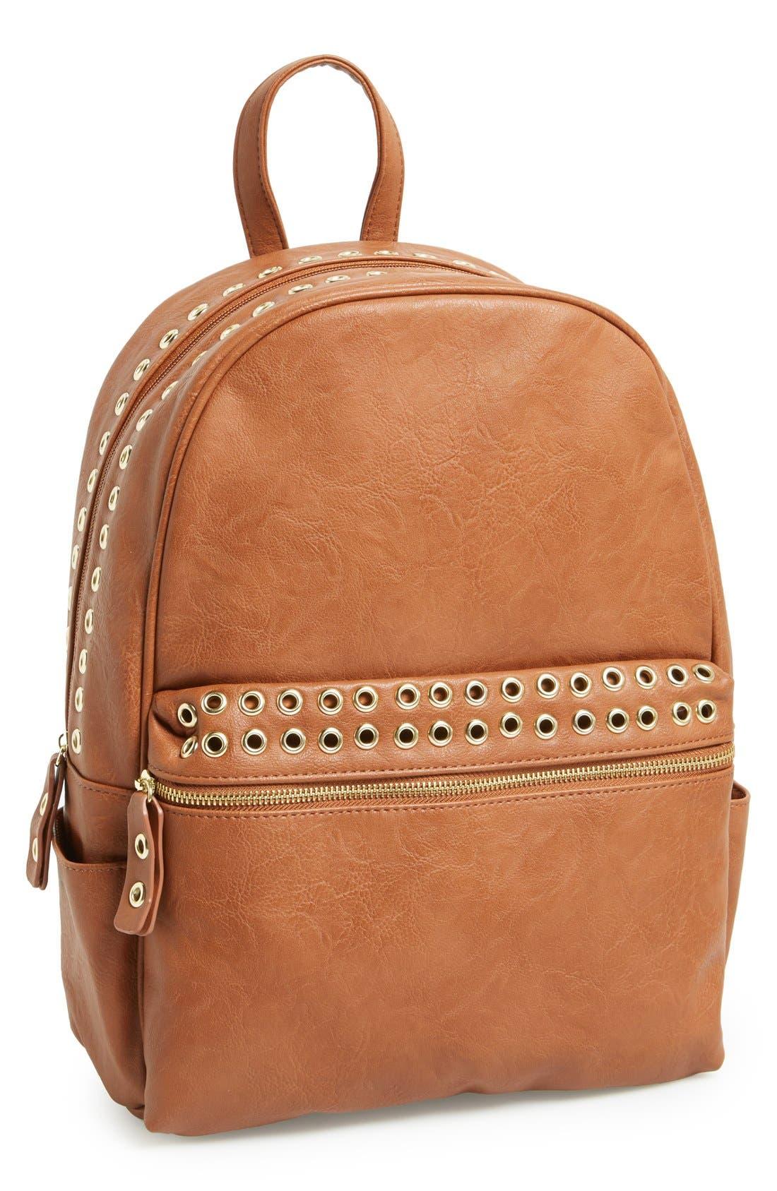Alternate Image 1 Selected - Steve Madden Grommet Backpack