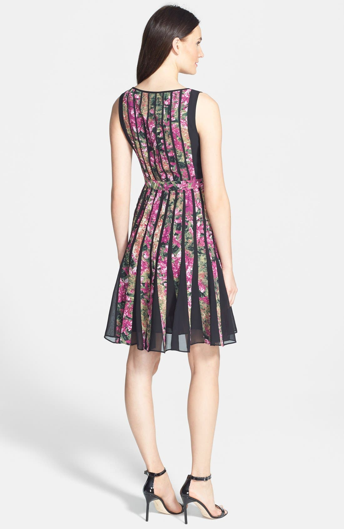 Alternate Image 2  - Adrianna Papell Spliced Floral Print Fit & Flare Dress