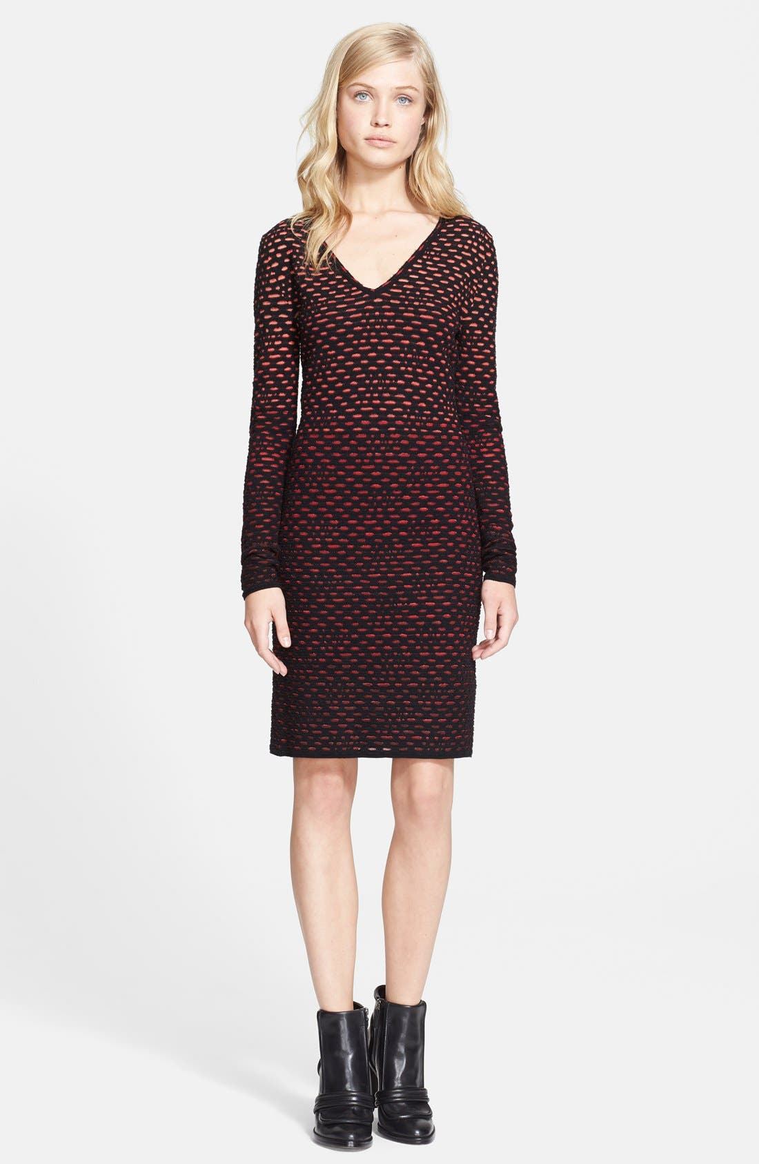Alternate Image 1 Selected - M Missoni Long Sleeve Bubble Knit Dress