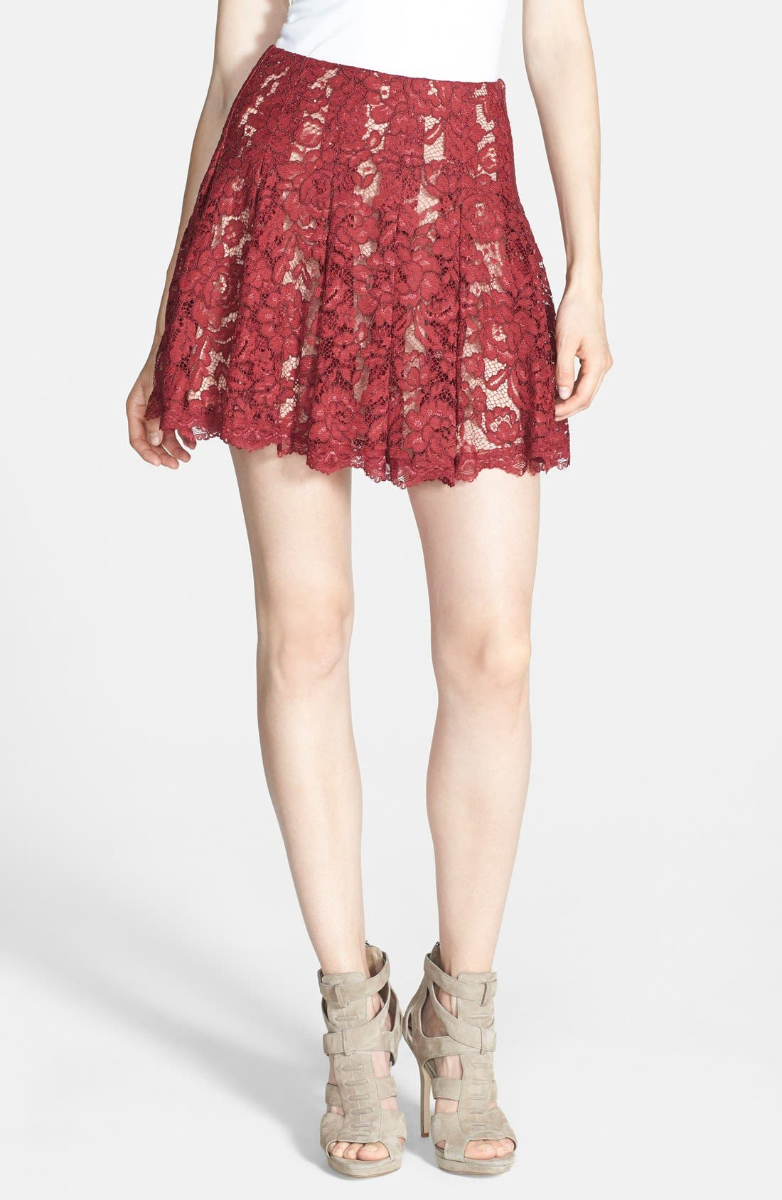 Main Image - ASTR Lace Flare Skirt