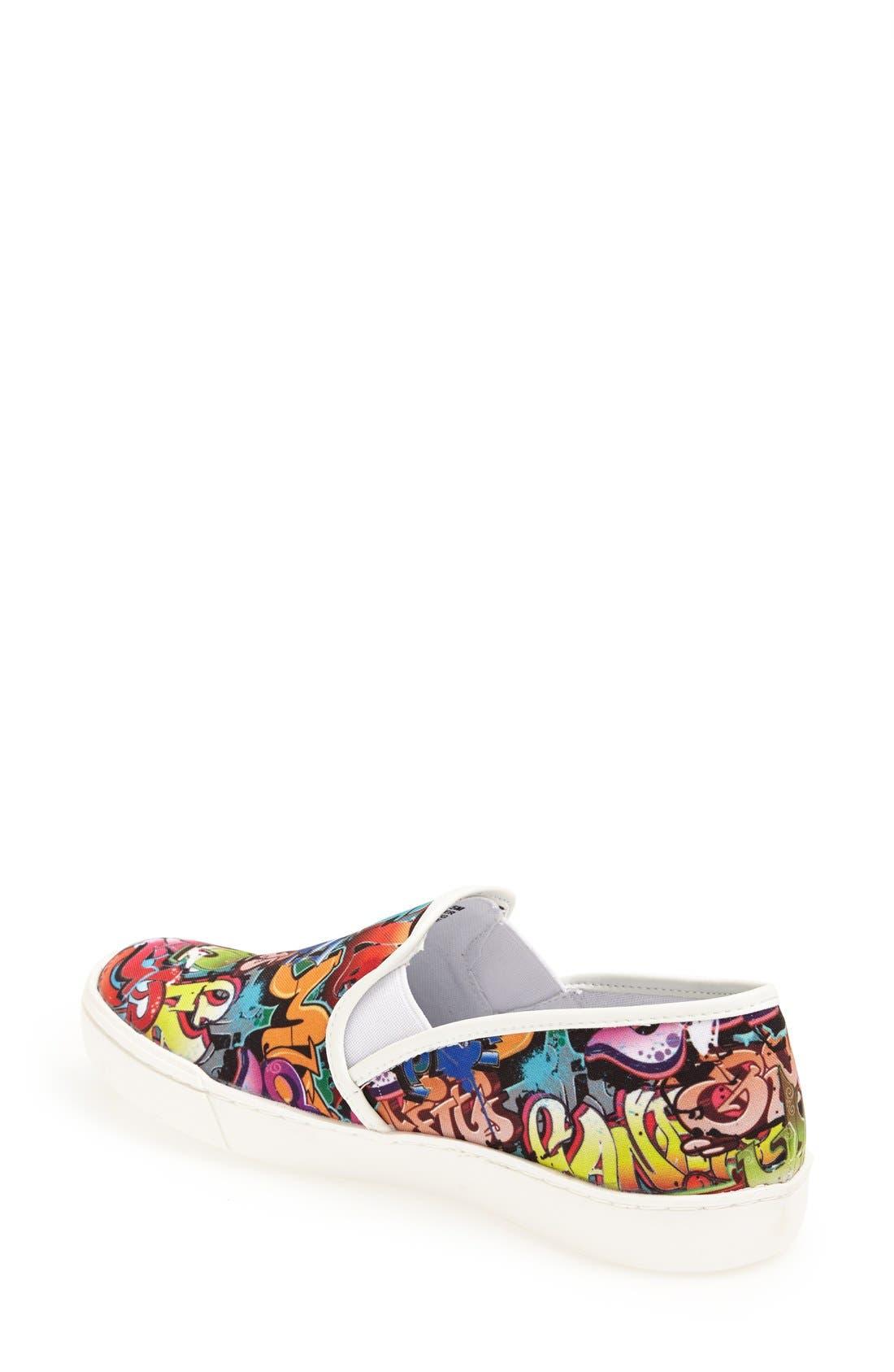 Alternate Image 2  - Steve Madden 'Ecentrcm' Graffiti Print Slip-On Sneaker (Women)