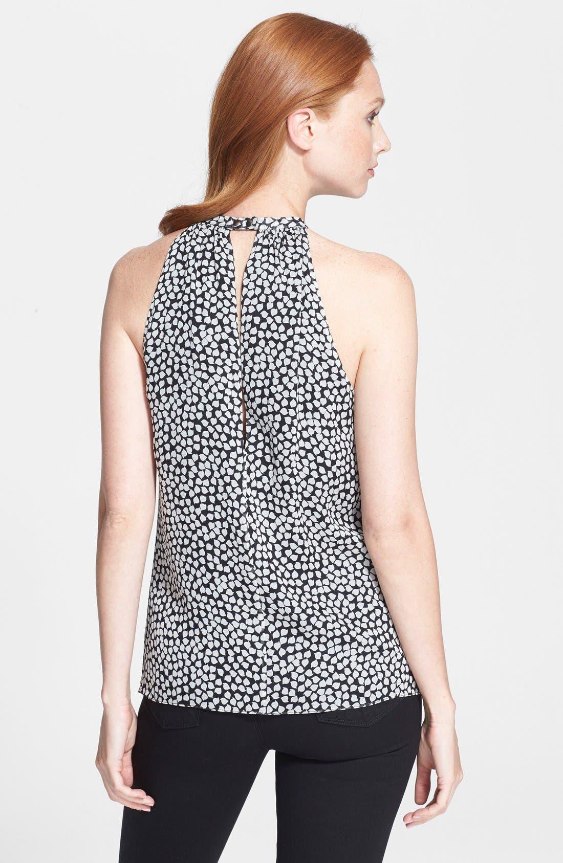 Alternate Image 2  - Diane von Furstenberg Embellished Silk Halter Top