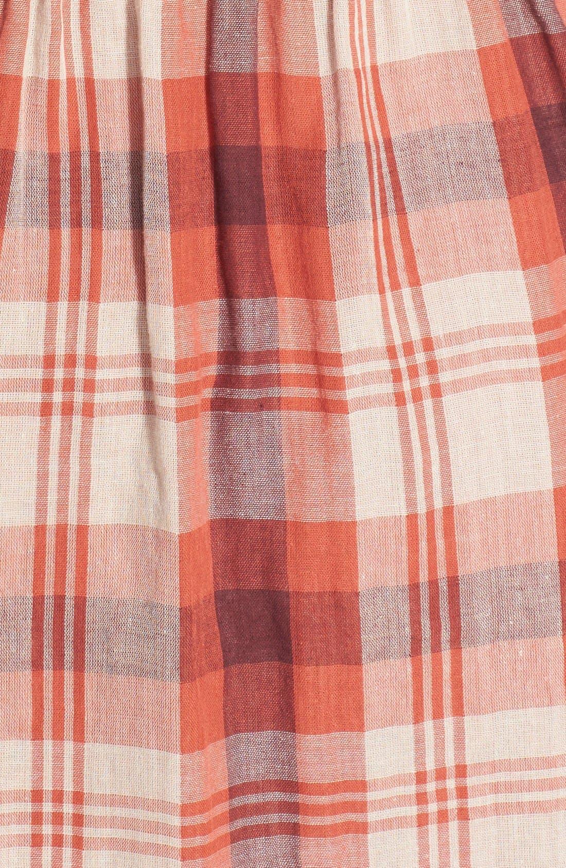 Alternate Image 3  - Velvet by Graham & Spencer Double Face Plaid Shirtdress