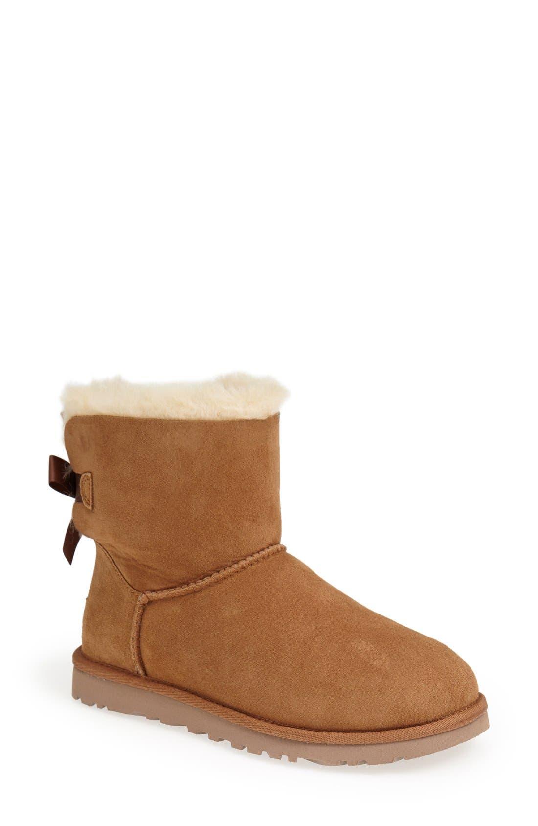 Alternate Image 1 Selected - UGG® 'Mini Bailey Bow' Boot (Women)