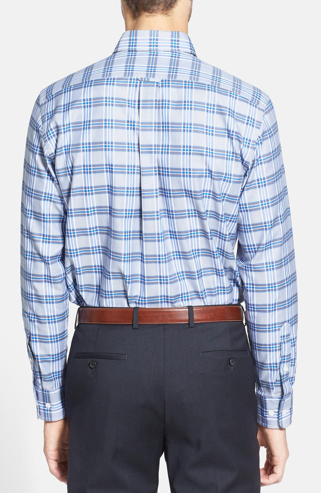 Alternate Image 2  - Façonnable Club Fit Plaid Twill Sport Shirt